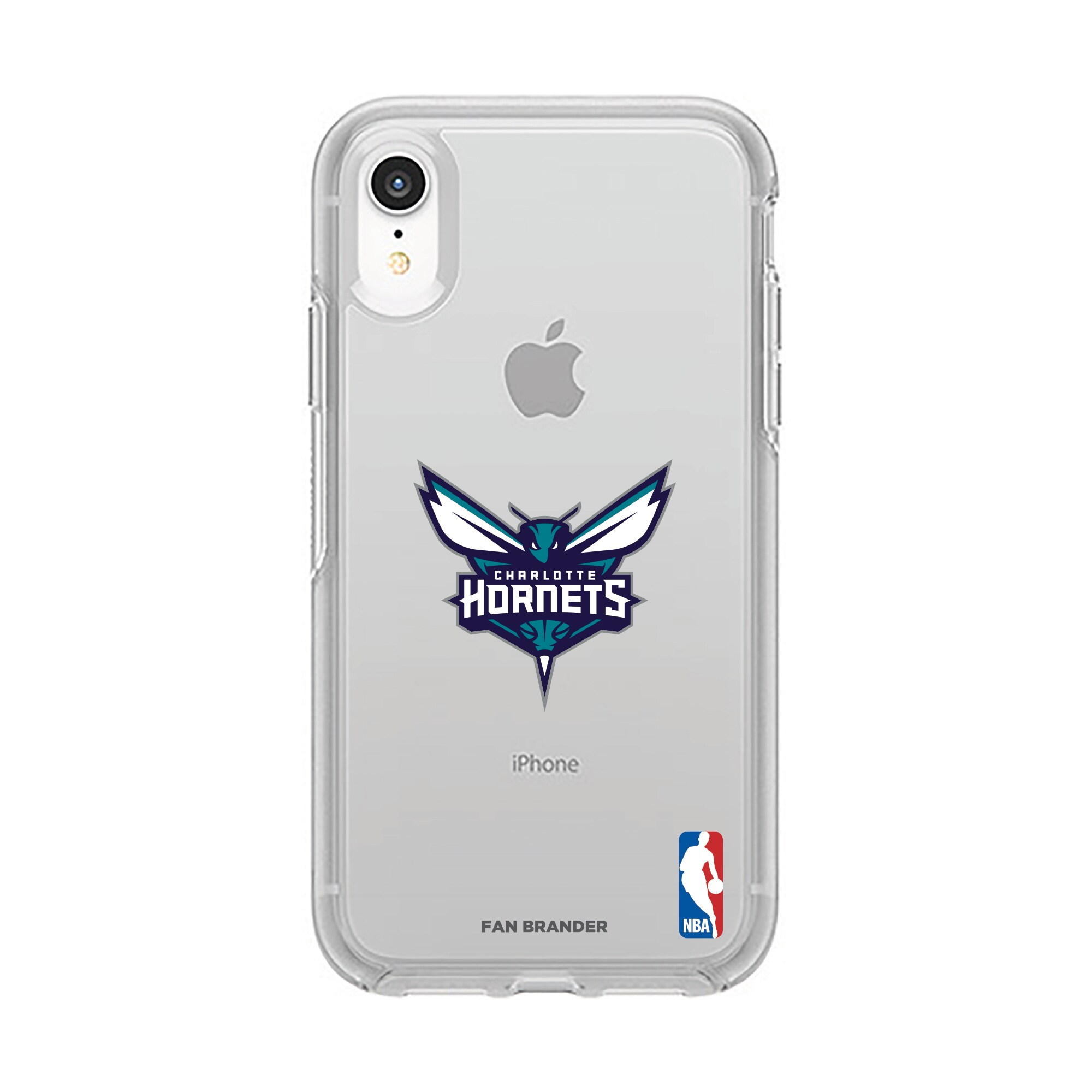 Charlotte Hornets OtterBox Clear Primary Logo iPhone Case