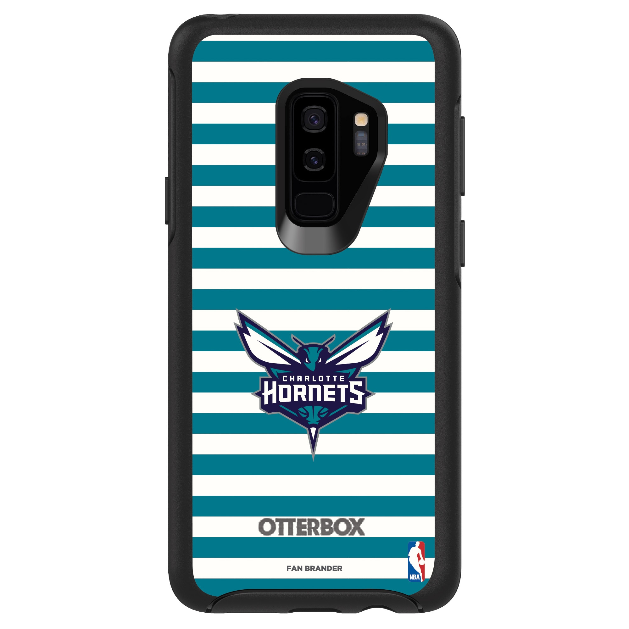 Charlotte Hornets OtterBox Galaxy Symmetry Striped Design Case