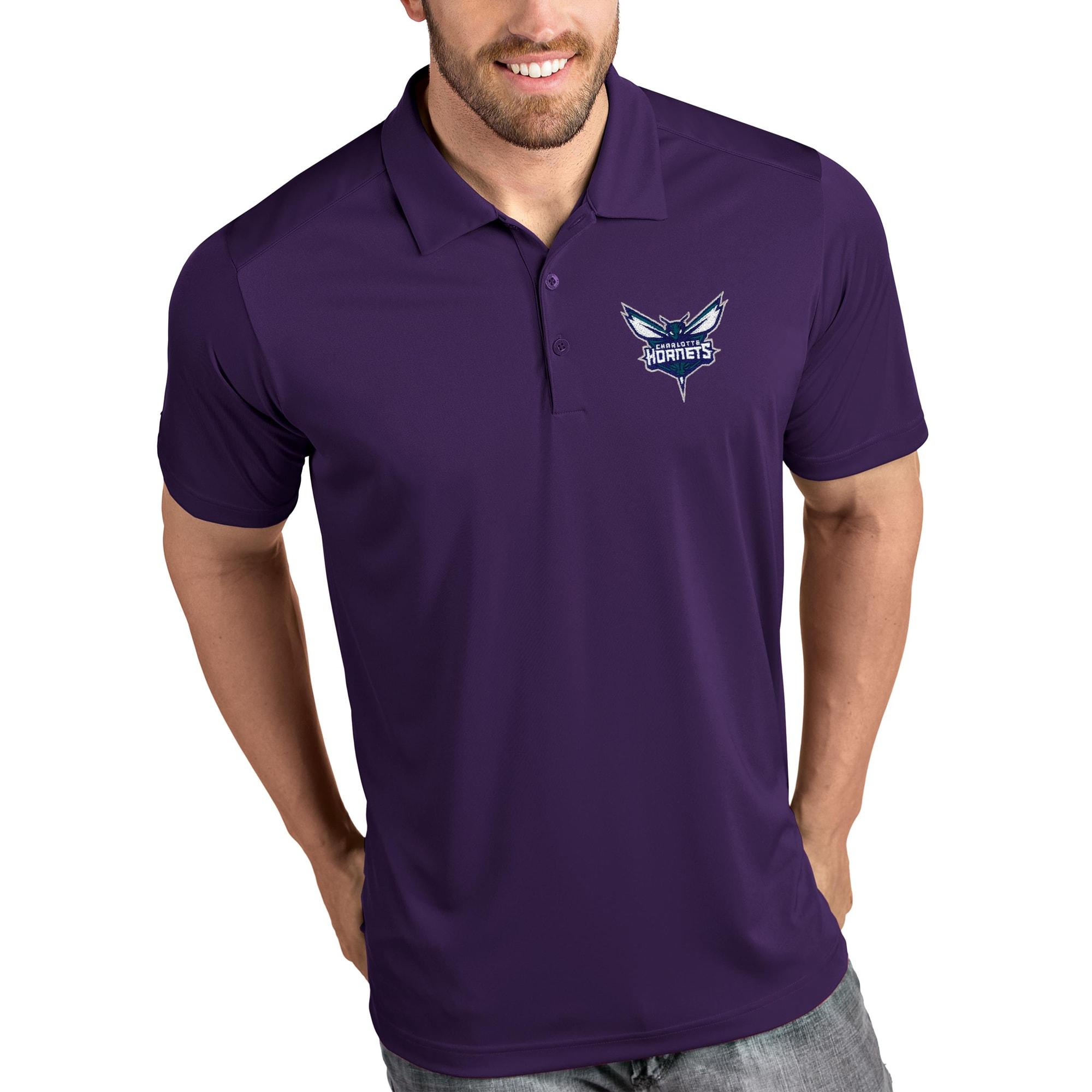 Charlotte Hornets Antigua Tribute Polo - Purple