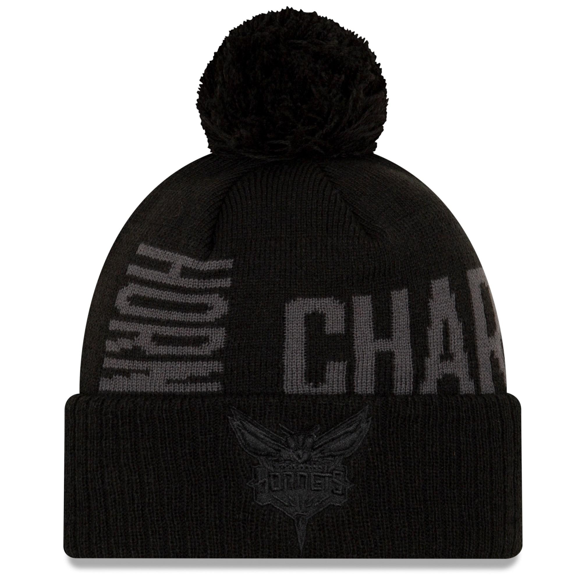 Charlotte Hornets New Era 2019 NBA Tip-Off Series Tonal Cuffed Knit Hat - Black