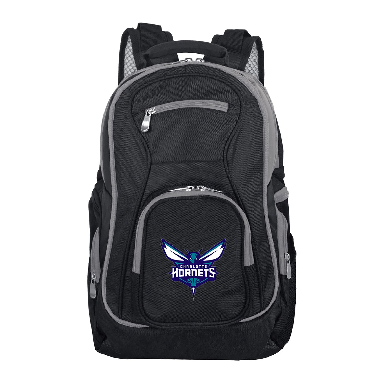 Charlotte Hornets Trim Color Laptop Backpack - Black