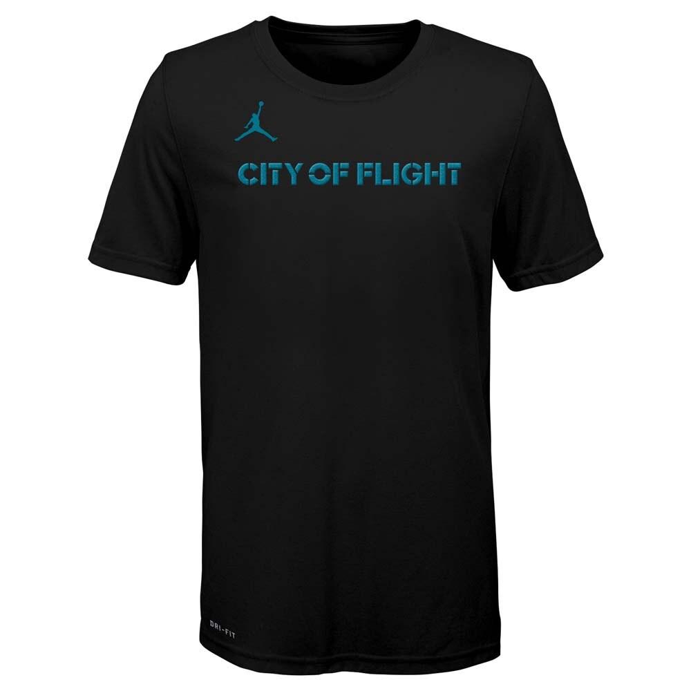 Charlotte Hornets Jordan Brand Youth City Edition Logo T-Shirt - Black