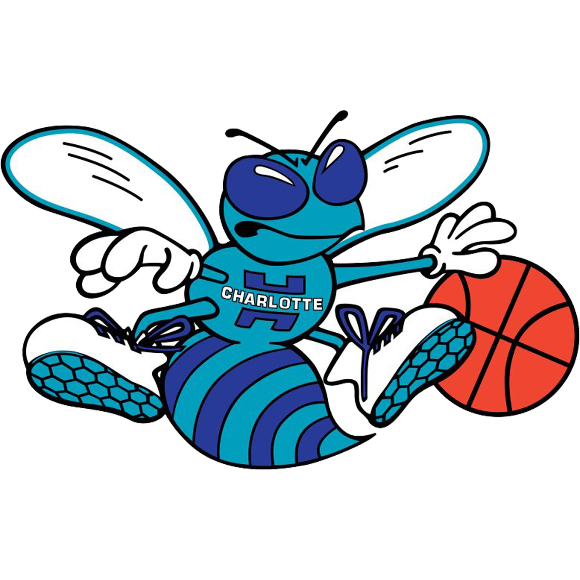 Charlotte Hornets Fathead Giant Removable Decal