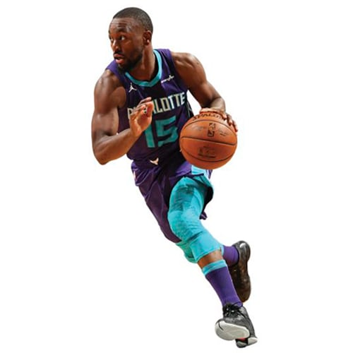 Kemba Walker Charlotte Hornets Fathead Life Size Removable Wall Decal