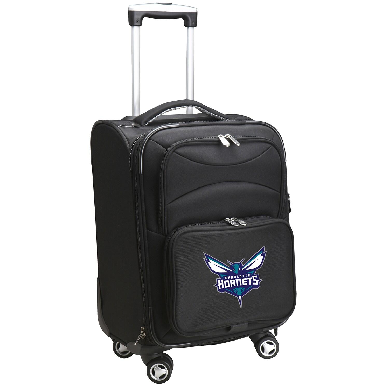 """Charlotte Hornets 21"""" Softside Spinner Carry-On - Black"""