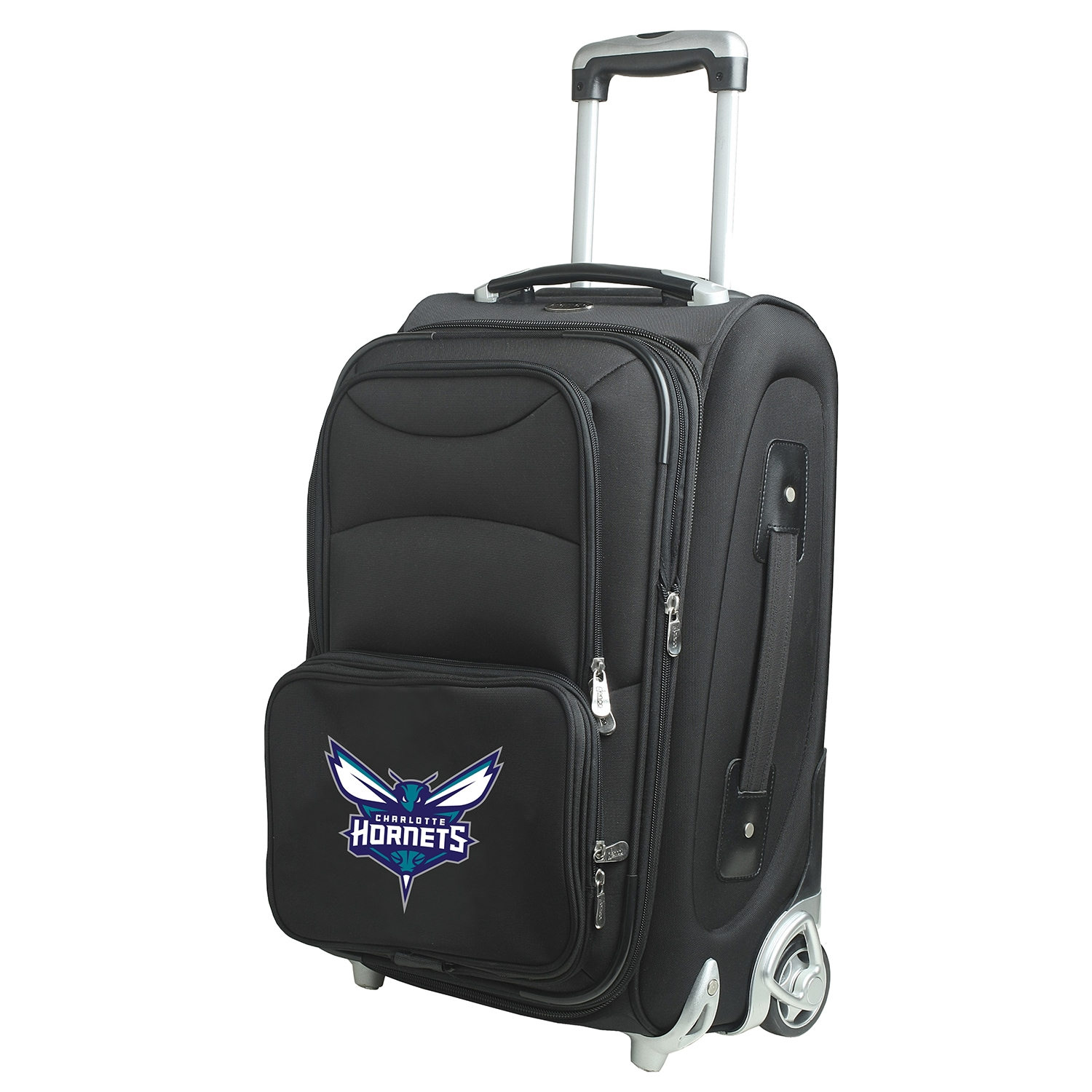 """Charlotte Hornets 21"""" Softside Rolling Carry-On Suitcase - Black"""