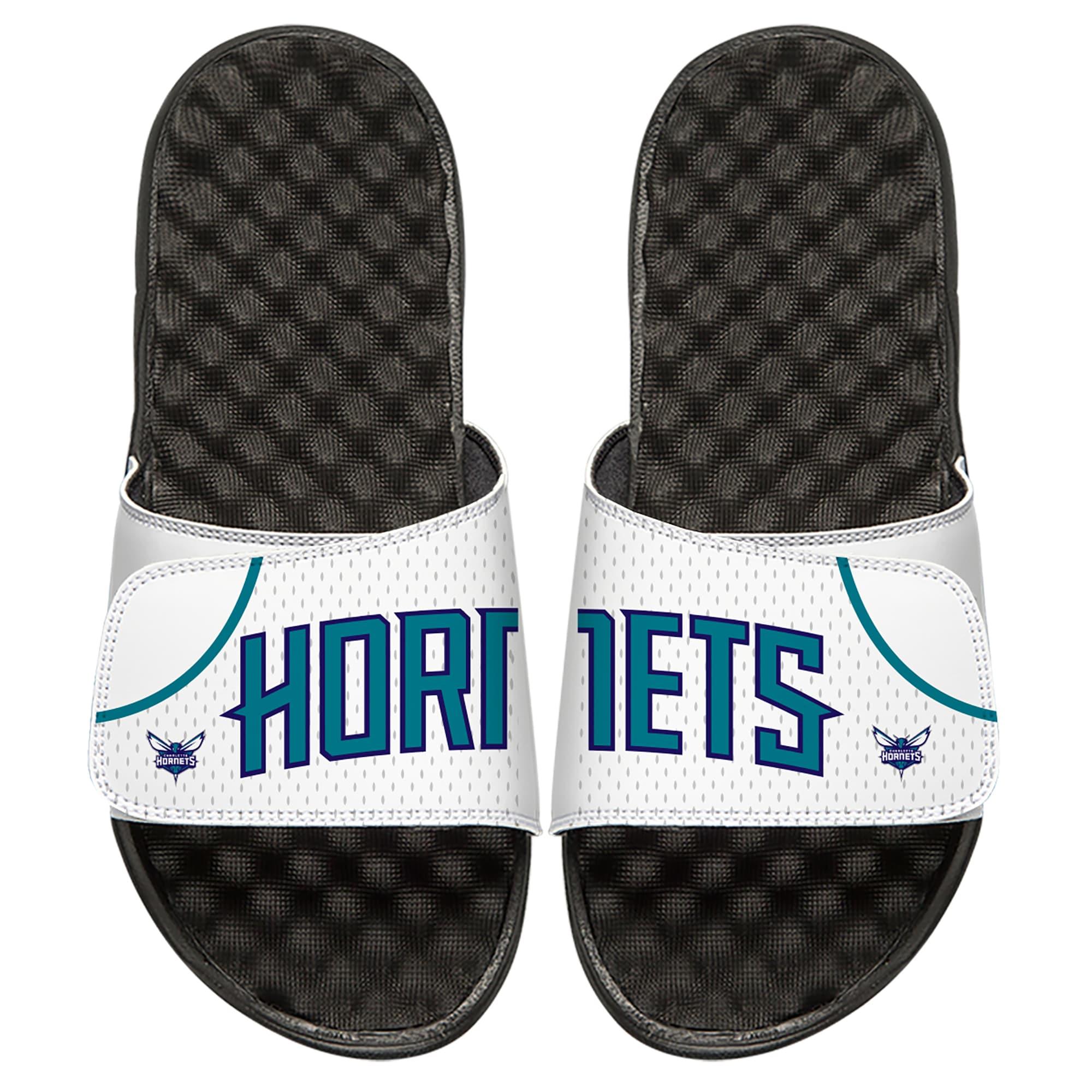 Charlotte Hornets ISlide Youth Away Jersey Slide Sandals - White