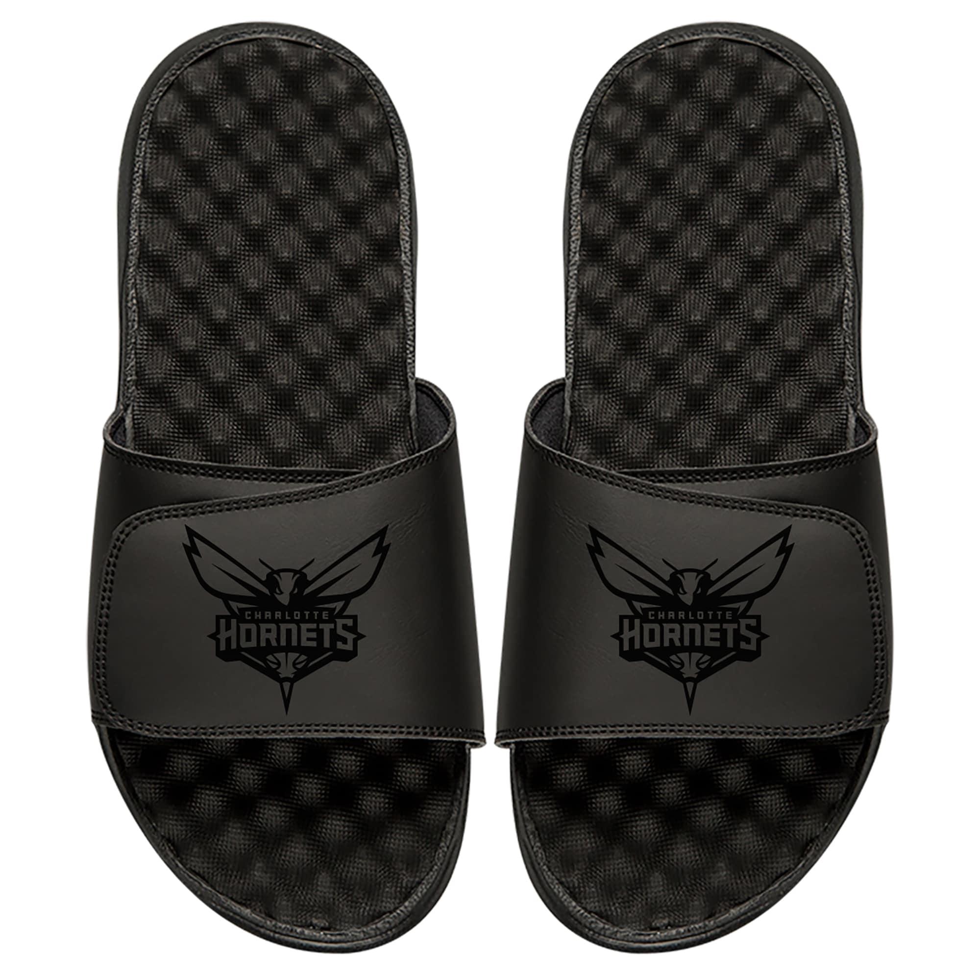 Charlotte Hornets ISlide Youth Tonal Slide Sandals - Black
