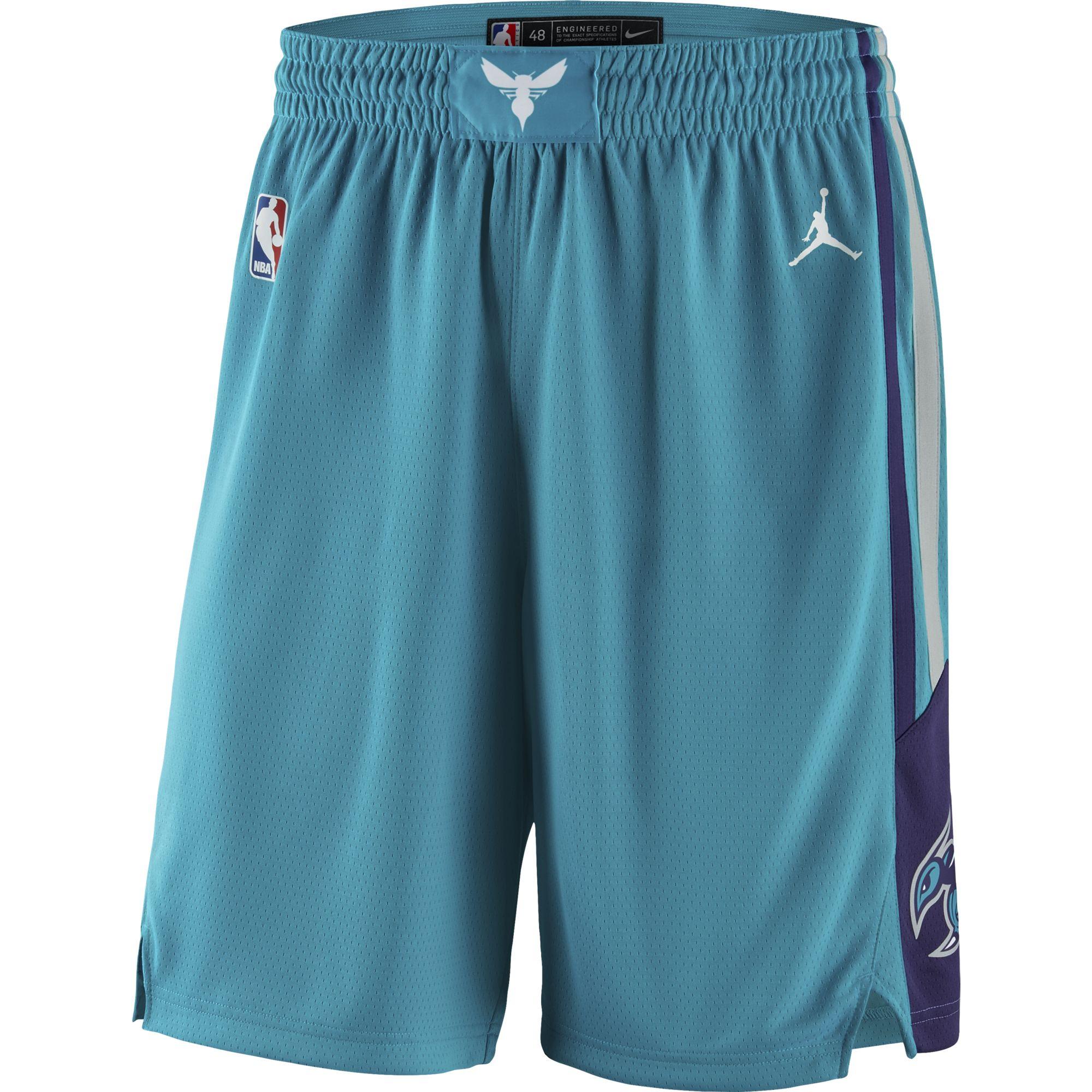 Charlotte Hornets Jordan Brand 2019/20 Icon Edition Swingman Shorts - Aqua