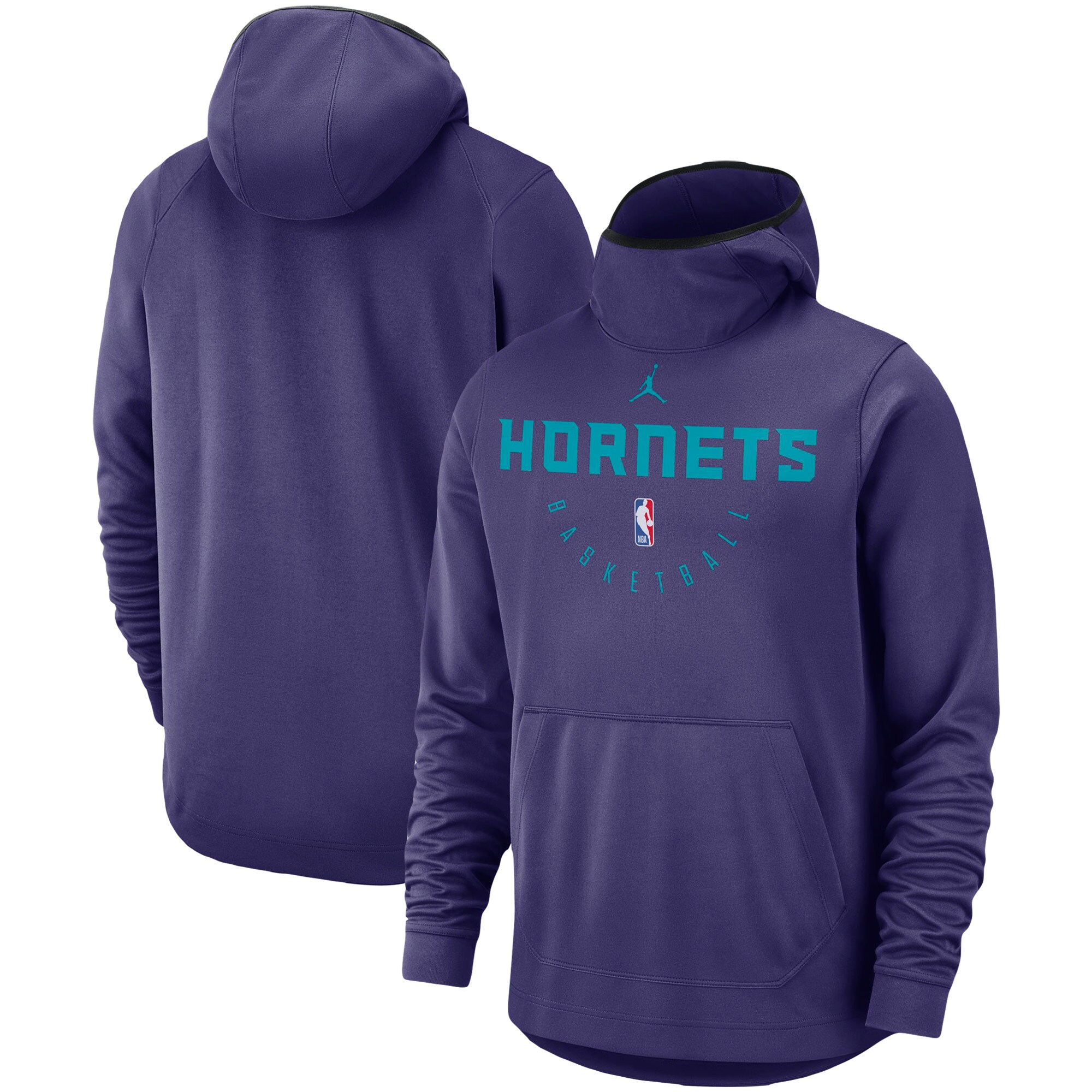 Charlotte Hornets Jordan Brand Spotlight Performance Pullover Hoodie - Purple