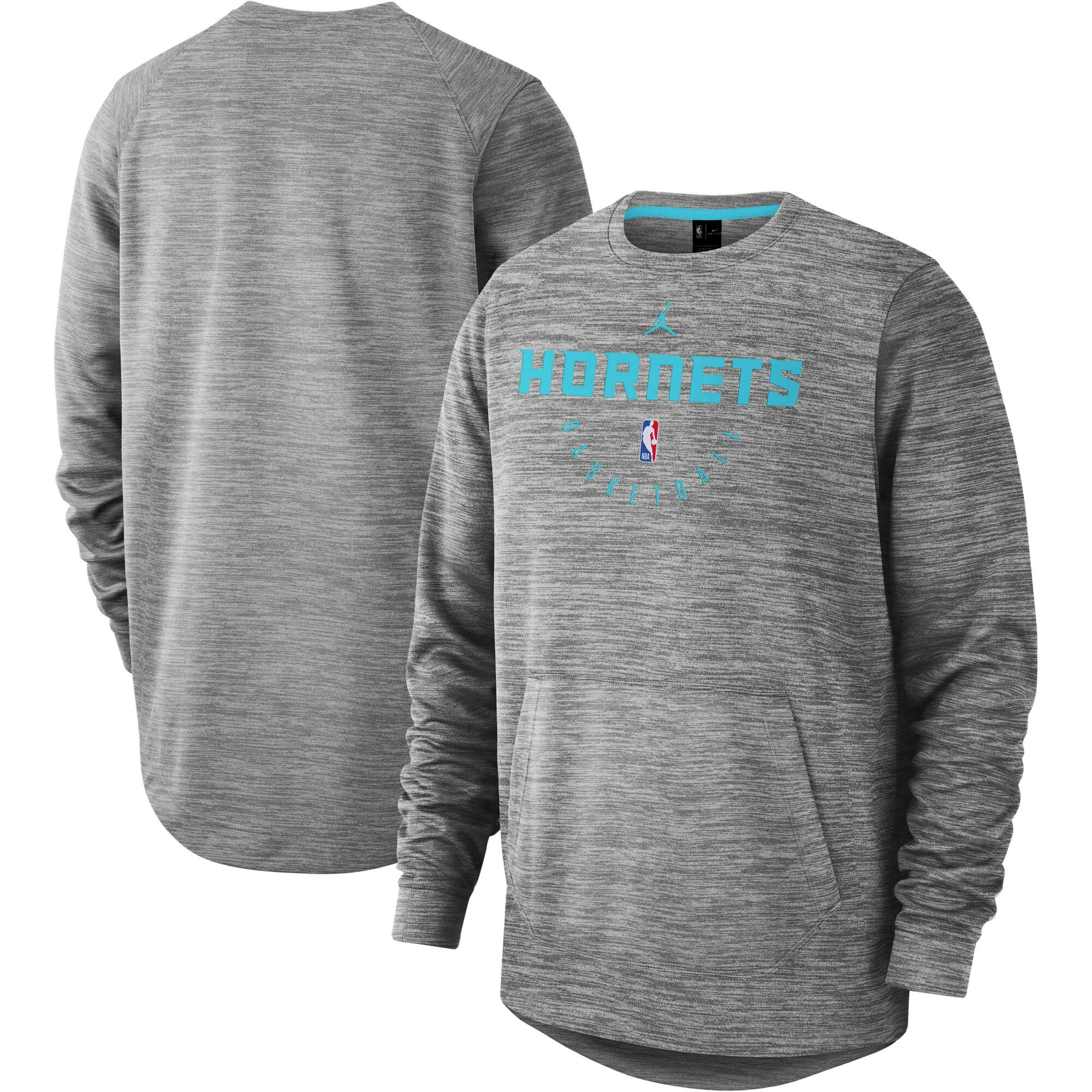 Charlotte Hornets Nike Spotlight Performance Pullover Sweatshirt - Heathered Gray