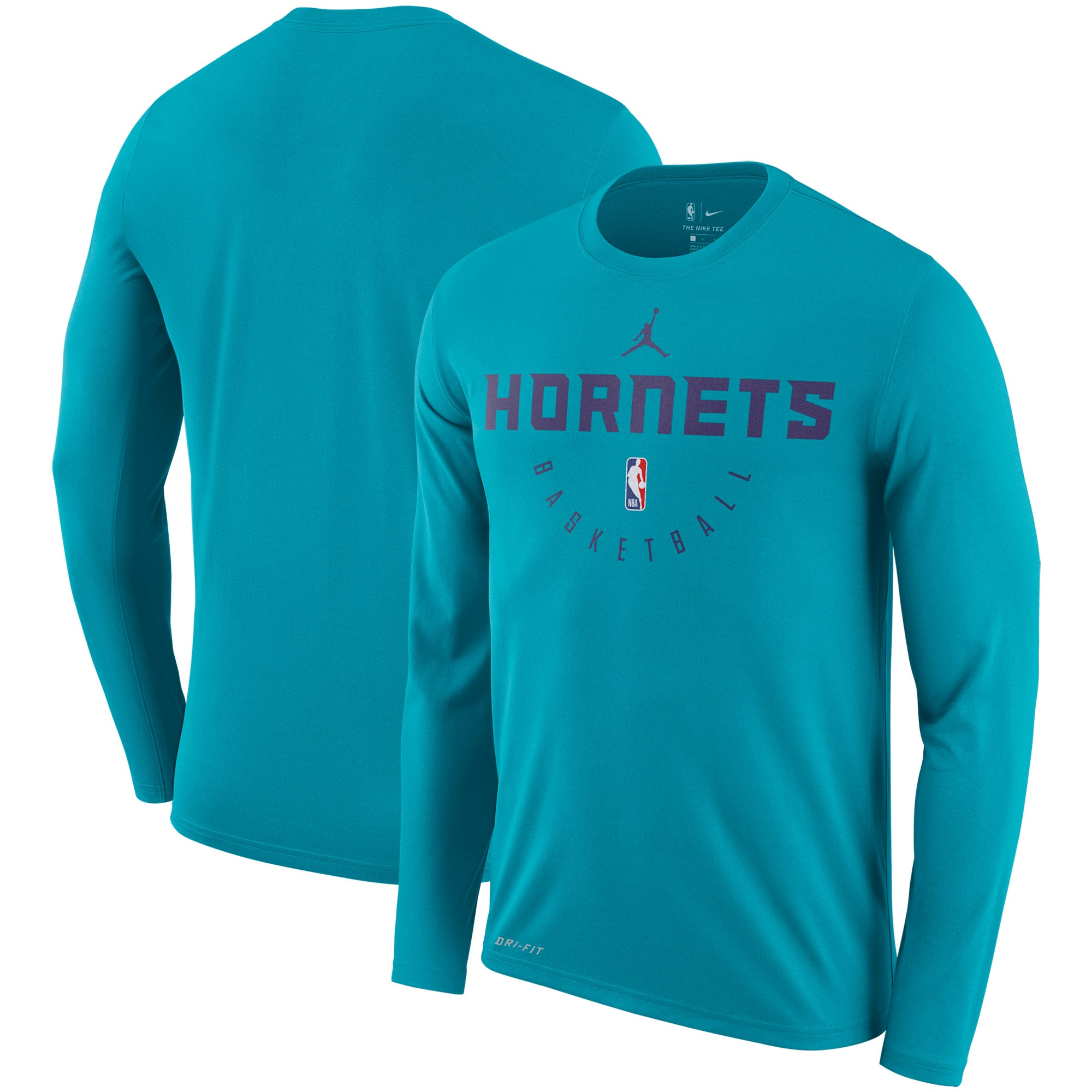 Charlotte Hornets Jordan Brand Practice Performance Legend Long Sleeve T-Shirt - Teal