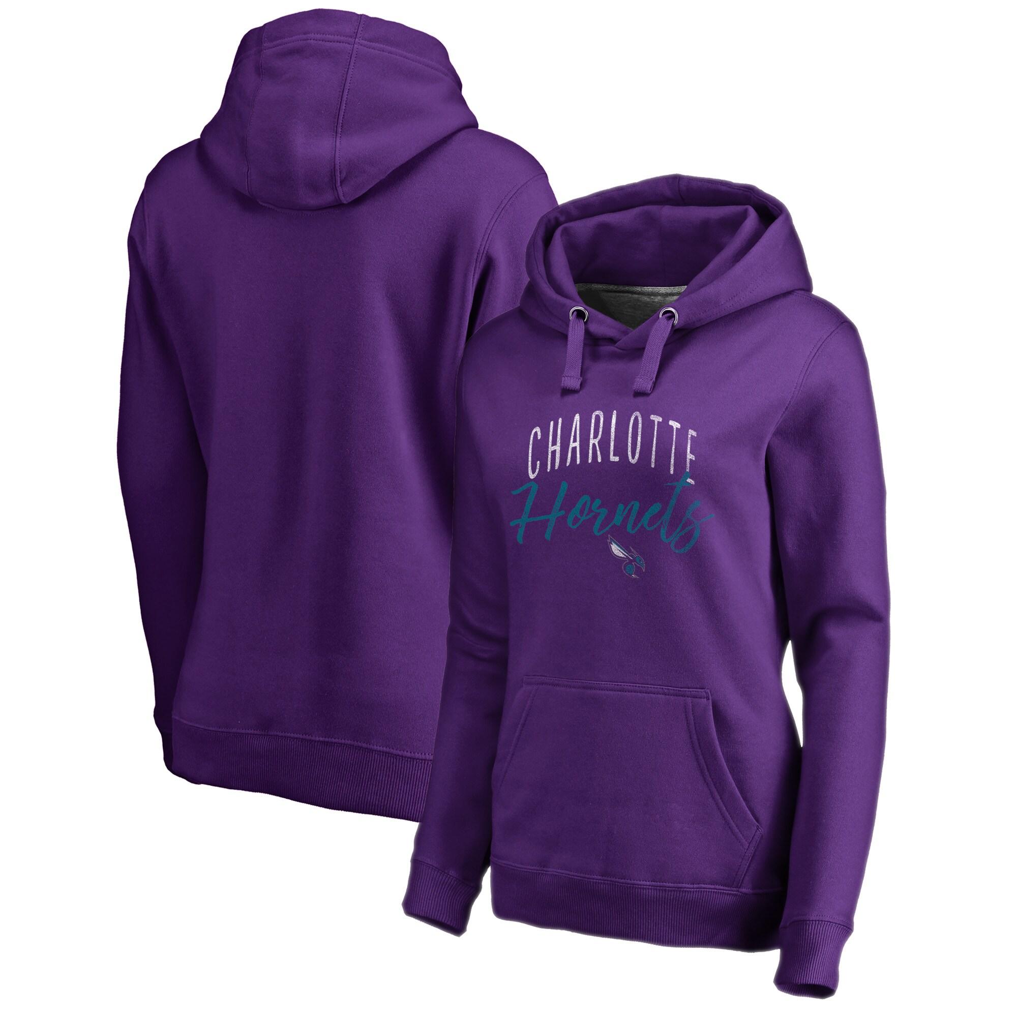 Charlotte Hornets Fanatics Branded Women's Graceful Plus Size Pullover Hoodie - Purple