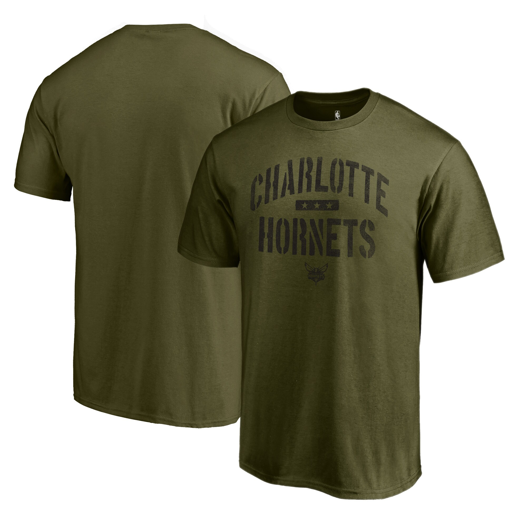 Charlotte Hornets Fanatics Branded Camo Collection Jungle T-Shirt - Green