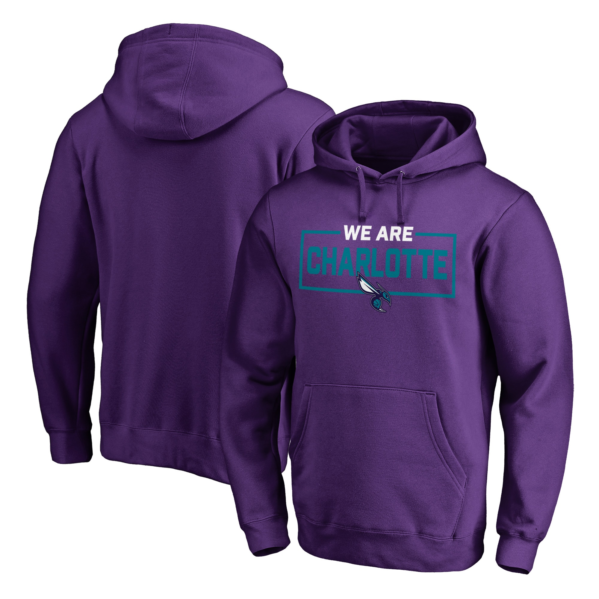 Charlotte Hornets Fanatics Branded We Are Iconic Collection Pullover Hoodie - Purple