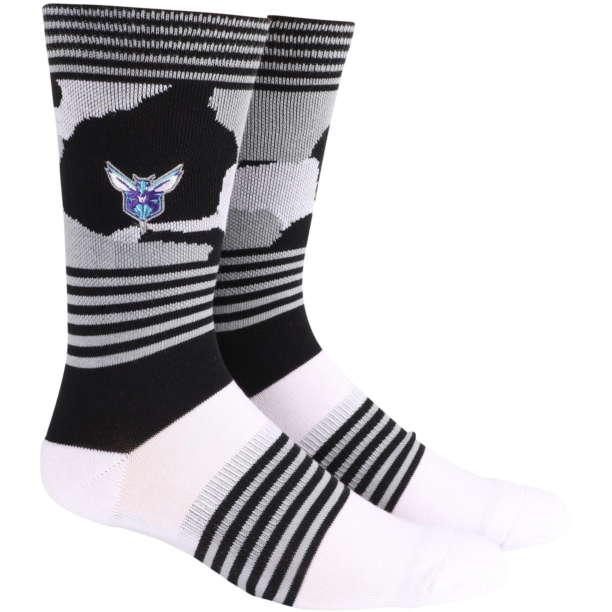 Charlotte Hornets Camo Crew Socks