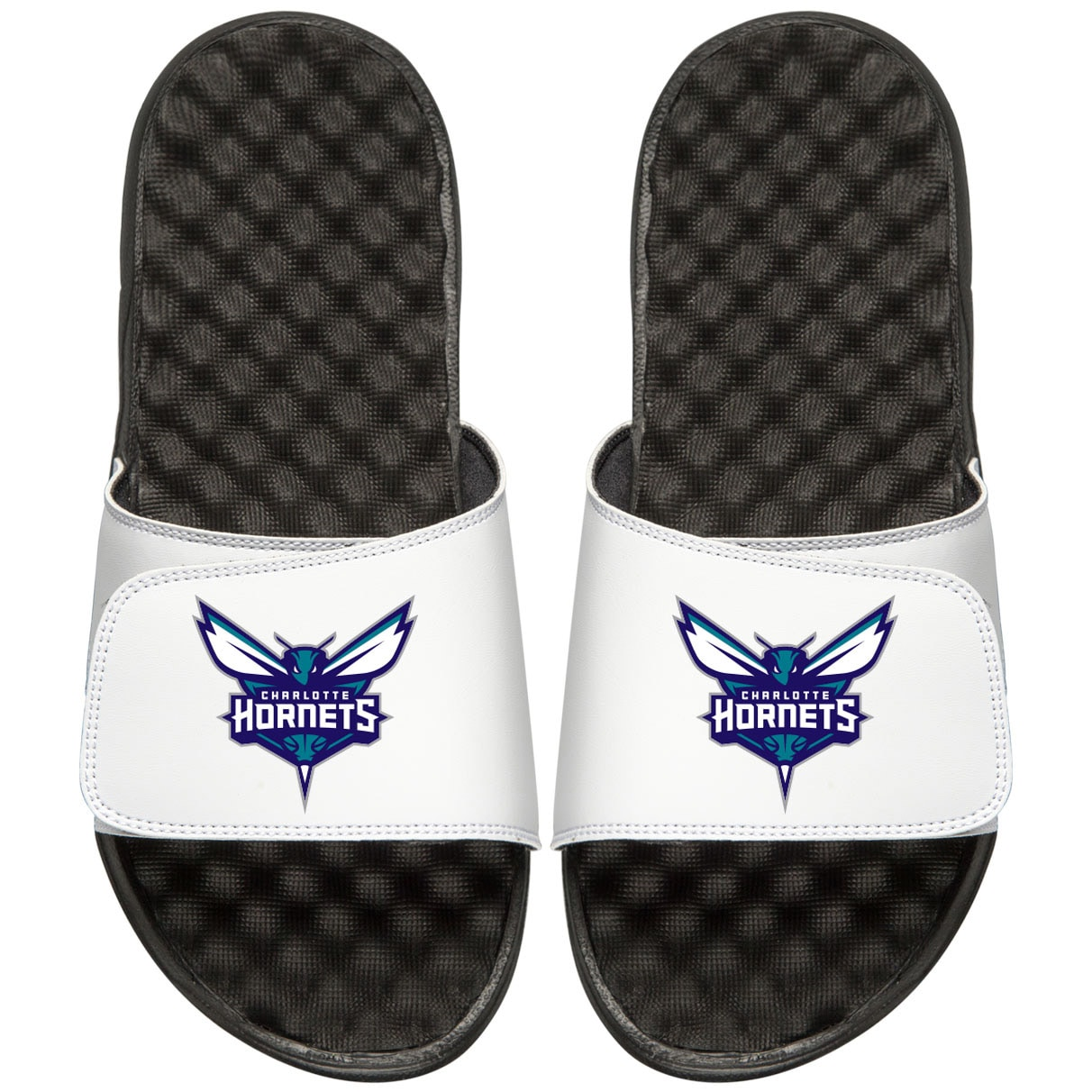 Charlotte Hornets Youth Primary iSlide Sandals - White