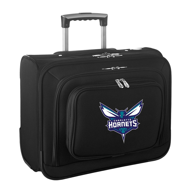"""Charlotte Hornets 14"""" 2-Wheeled Laptop Overnighter Travel Case - Black"""