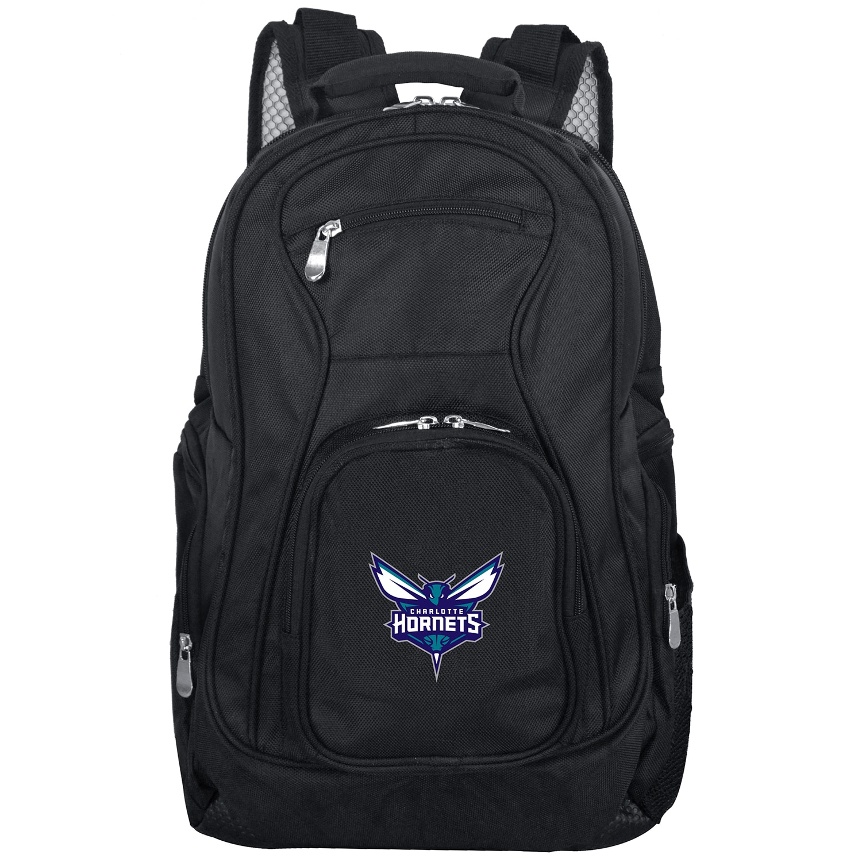 """Charlotte Hornets 19"""" Laptop Travel Backpack - Black"""