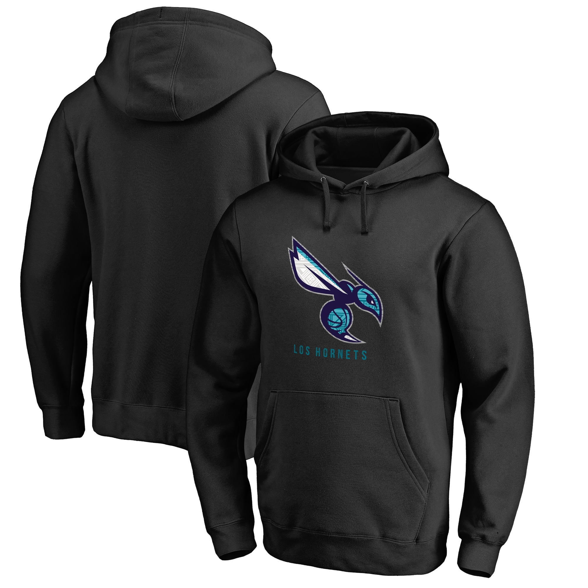 Charlotte Hornets Fanatics Branded 2017 Noches Éne-Bé-A Pullover Hoodie - Black