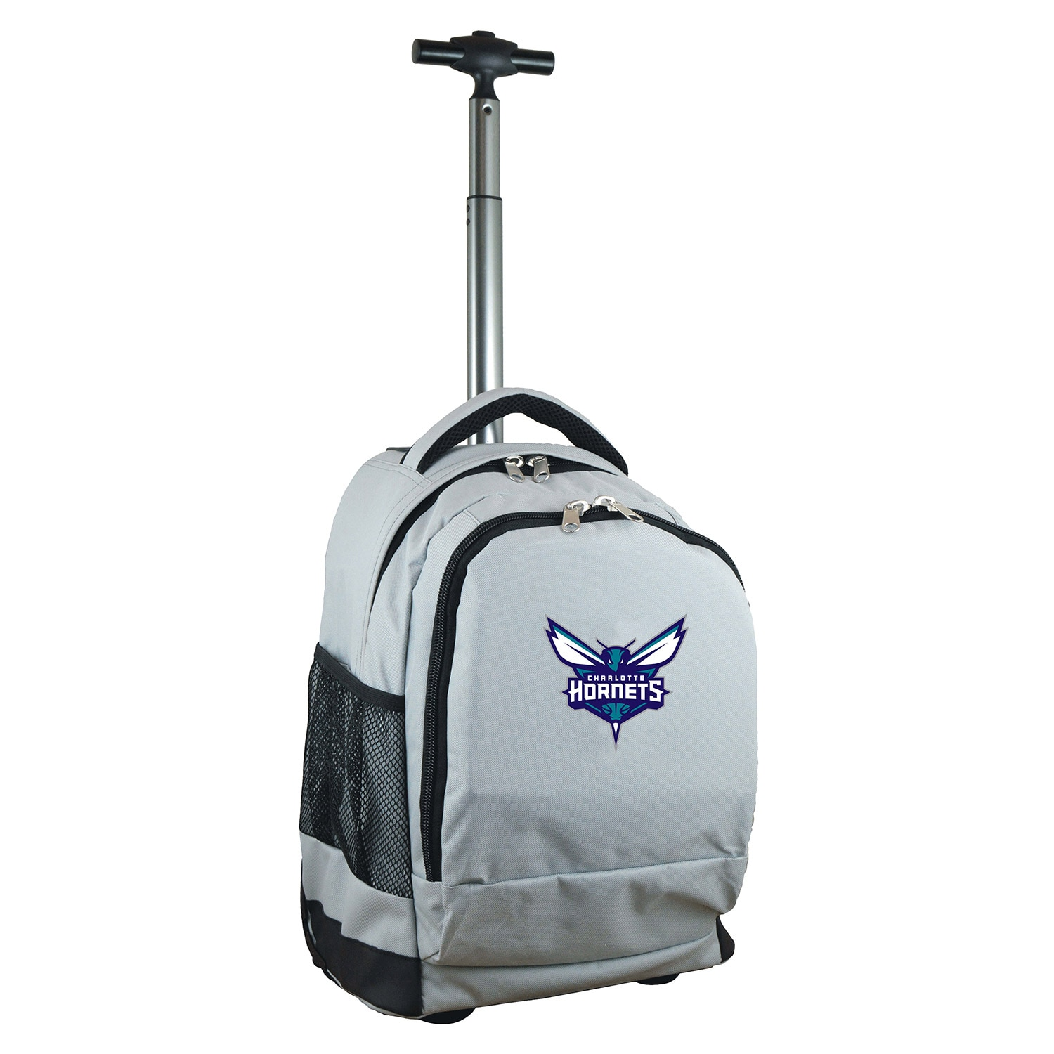 Charlotte Hornets 19'' Premium Wheeled Backpack - Gray