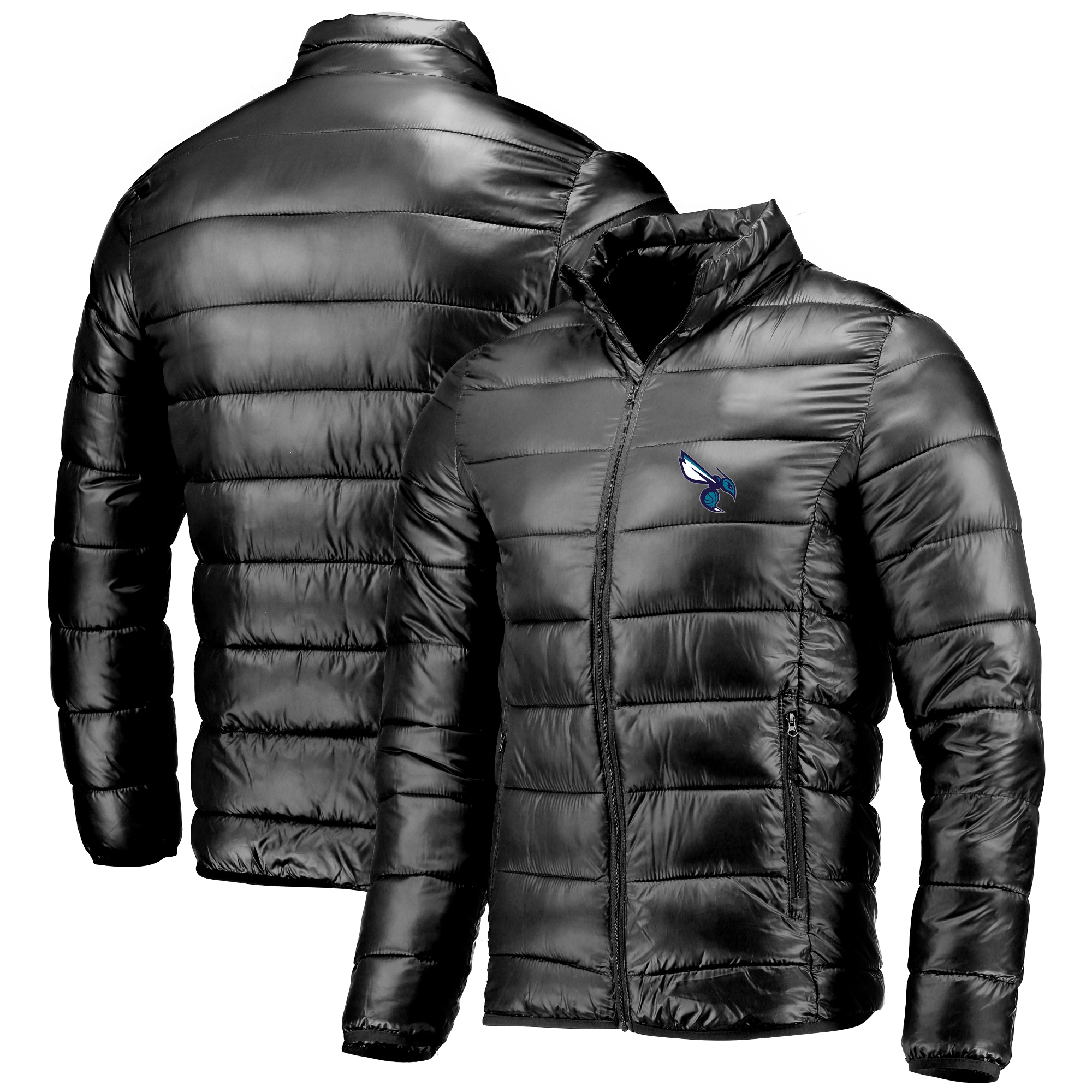 Charlotte Hornets Fanatics Branded Polyester Filled Puffer Jacket - Navy