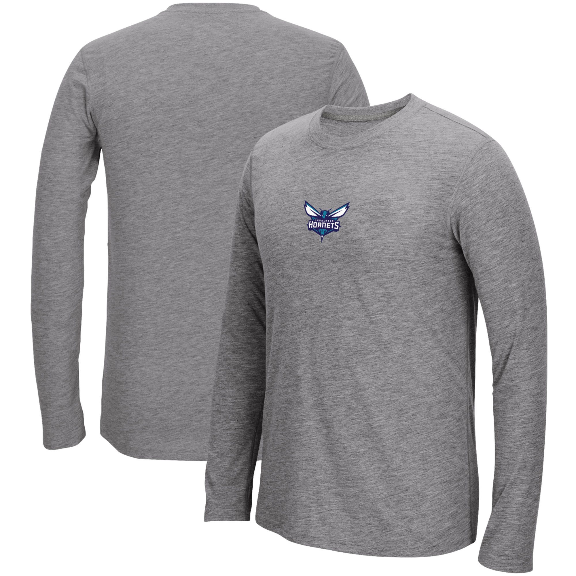 Charlotte Hornets adidas Pre-Game Ultimate climalite Long Sleeve T-Shirt - Heathered Gray