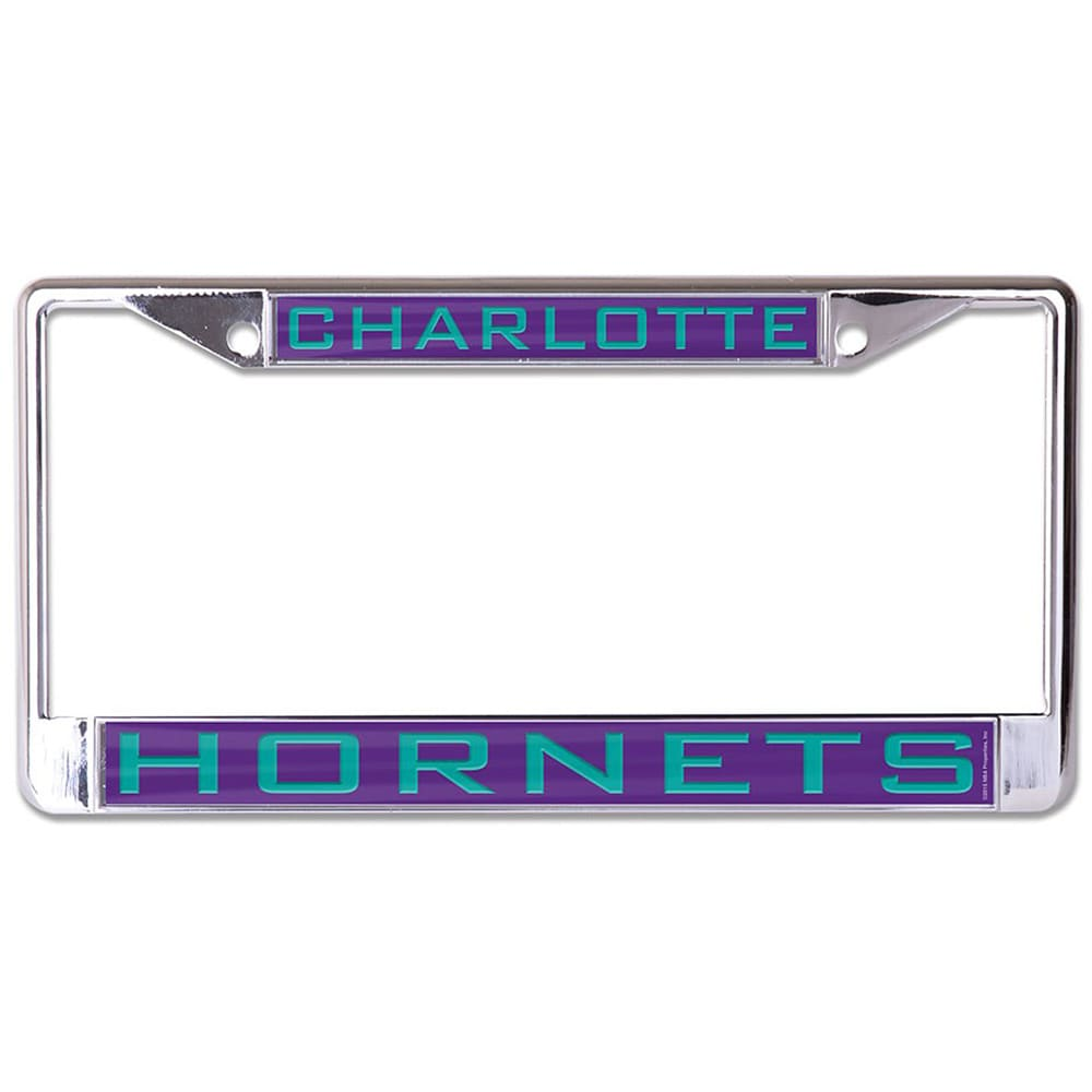 Charlotte Hornets WinCraft Laser Inlaid Metal License Plate Frame