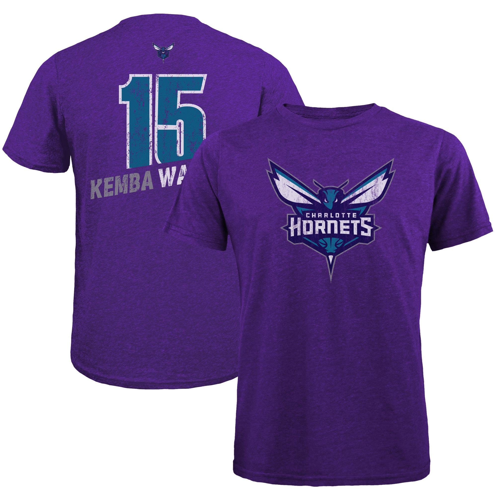 Kemba Walker Charlotte Hornets Majestic Threads Name & Number Tri-Blend T-Shirt - Purple
