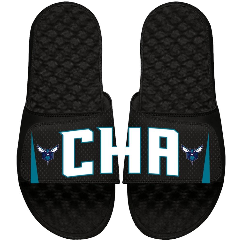 Charlotte Hornets ISlide Youth Statement Jersey Slide Sandals - Black