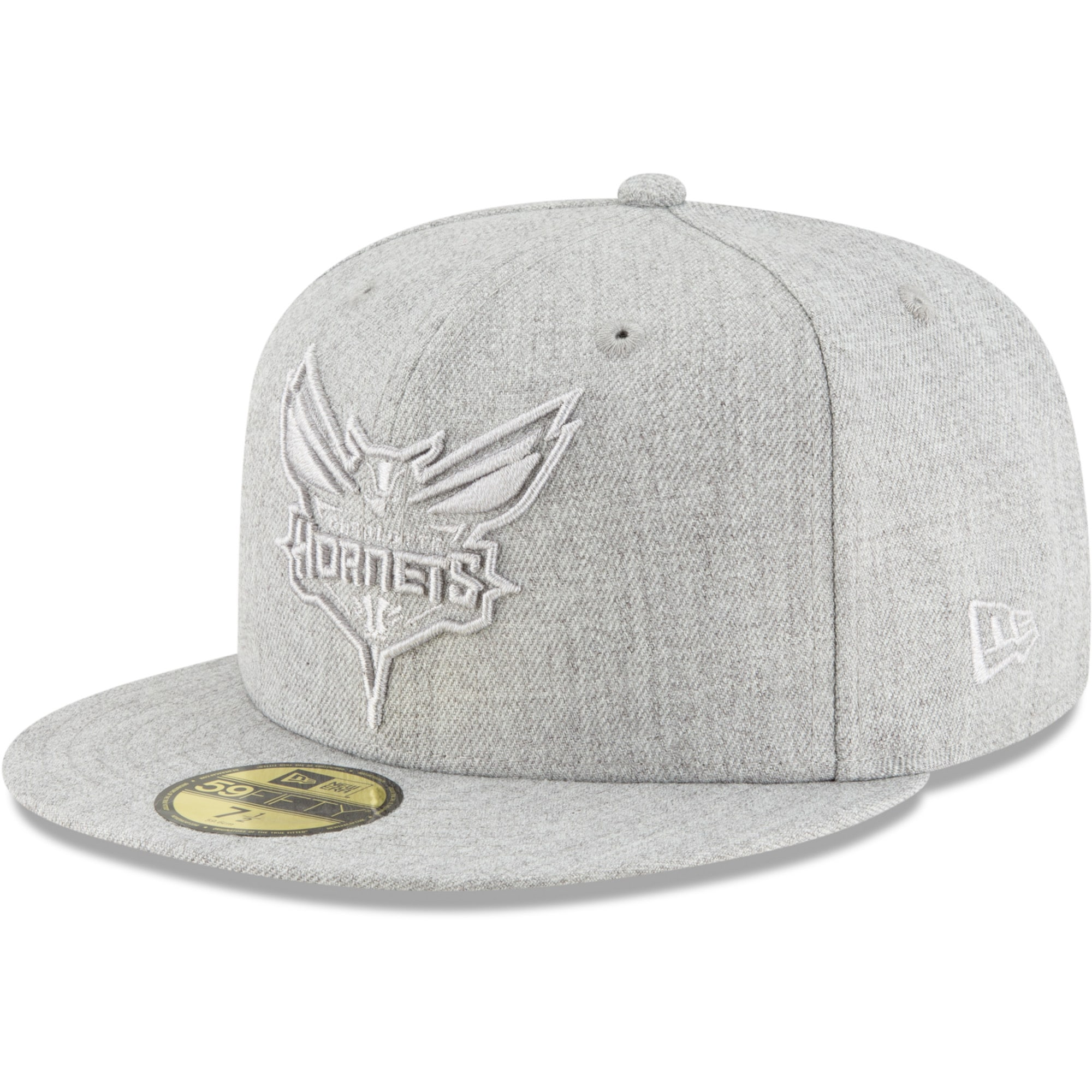 Charlotte Hornets New Era Twisted Frame 59FIFTY Fitted Hat - Gray