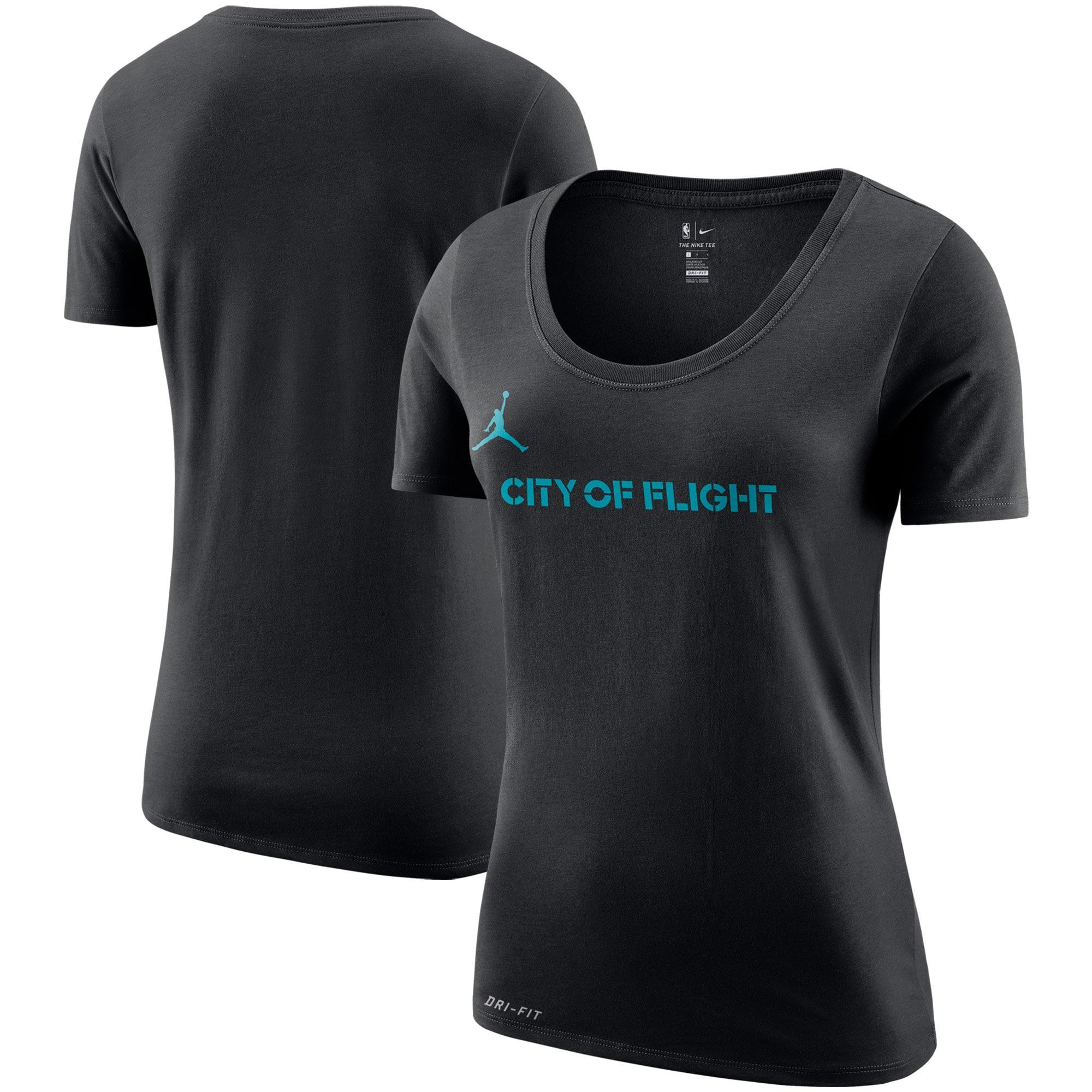 Charlotte Hornets Jordan Brand Women's City Edition Performance Cotton Essential T-Shirt - Black