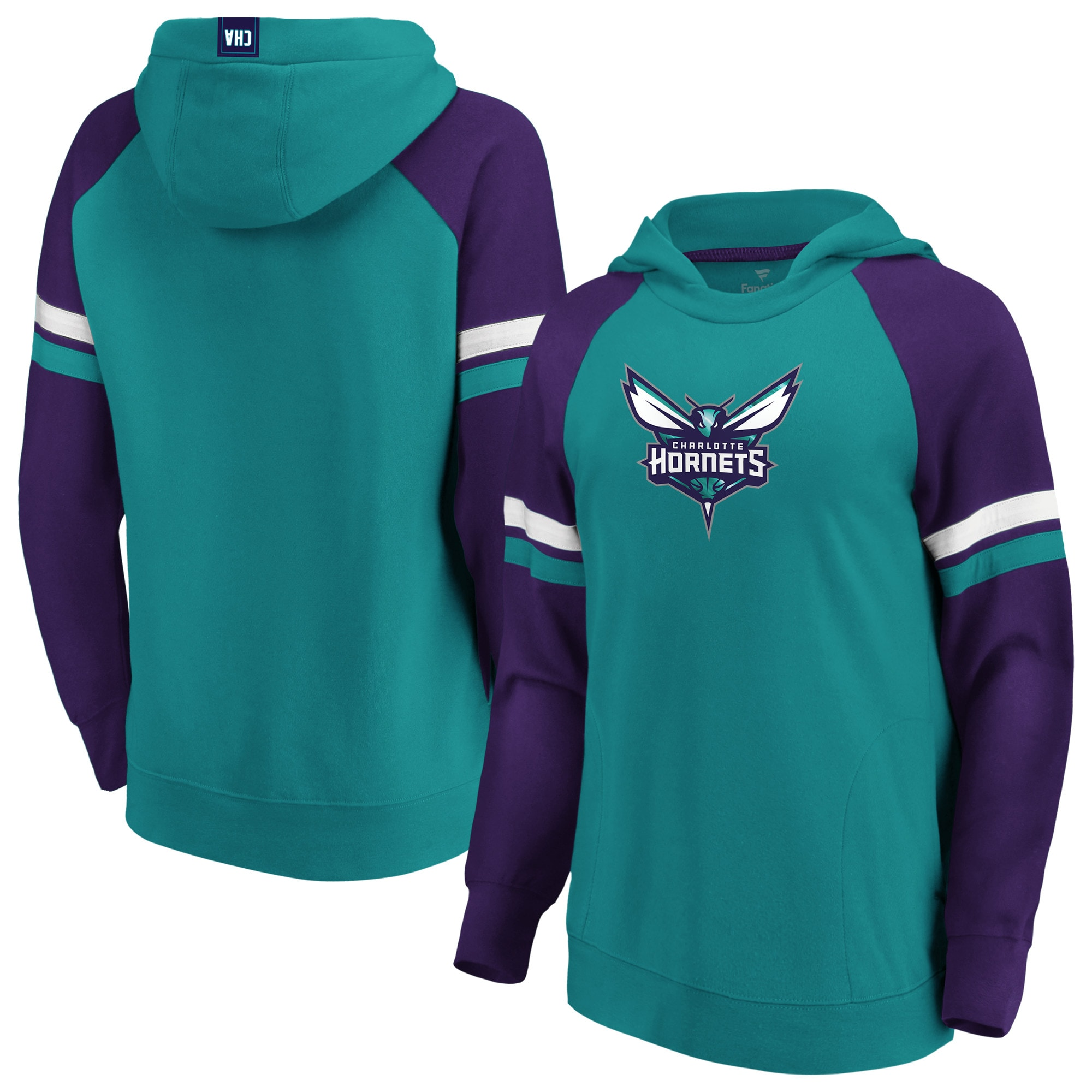 Charlotte Hornets Fanatics Branded Women's Iconic Best in Stock Pullover Hoodie - Teal/Purple