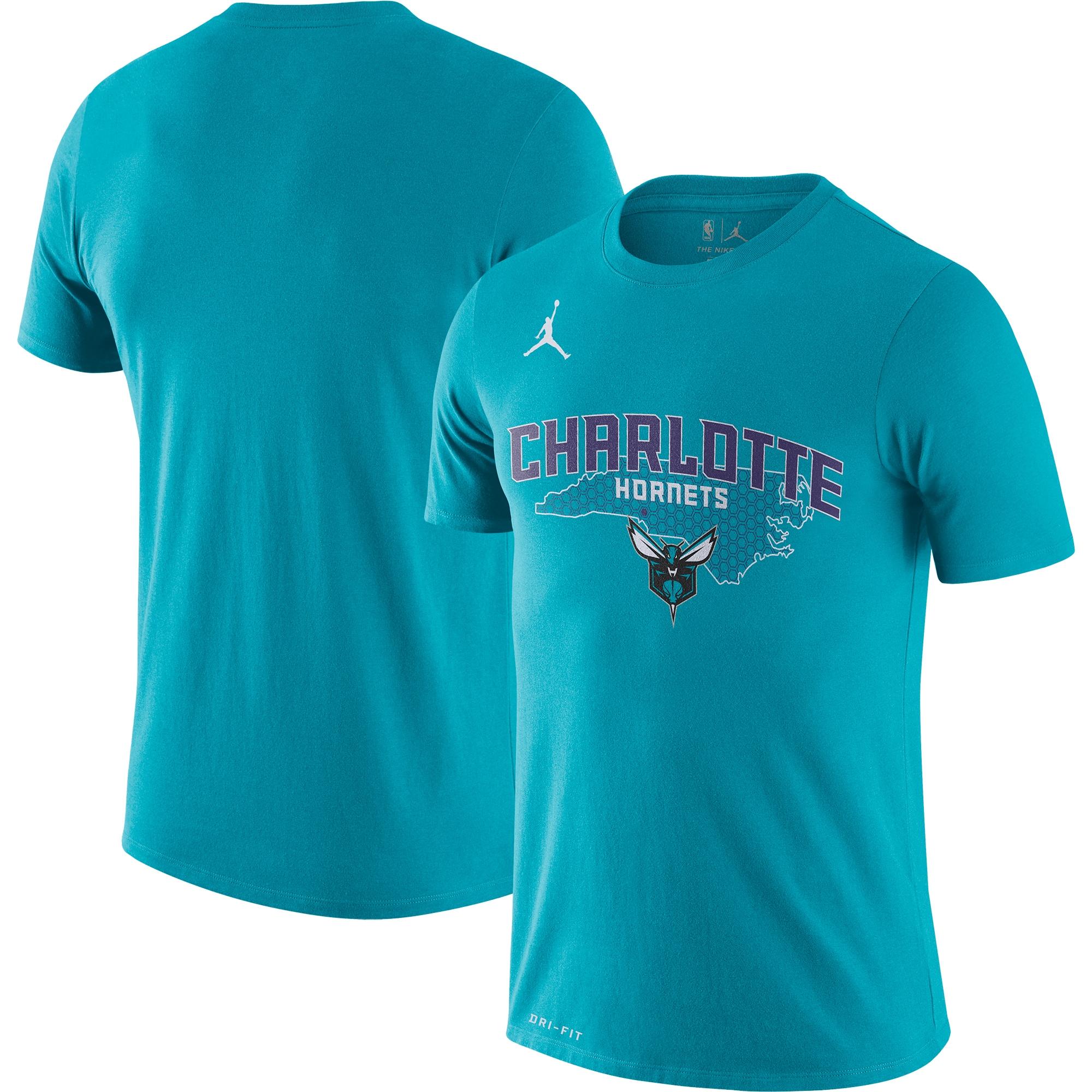 Charlotte Hornets Jordan Brand 2019/20 City Edition Hometown Performance T-Shirt - Teal