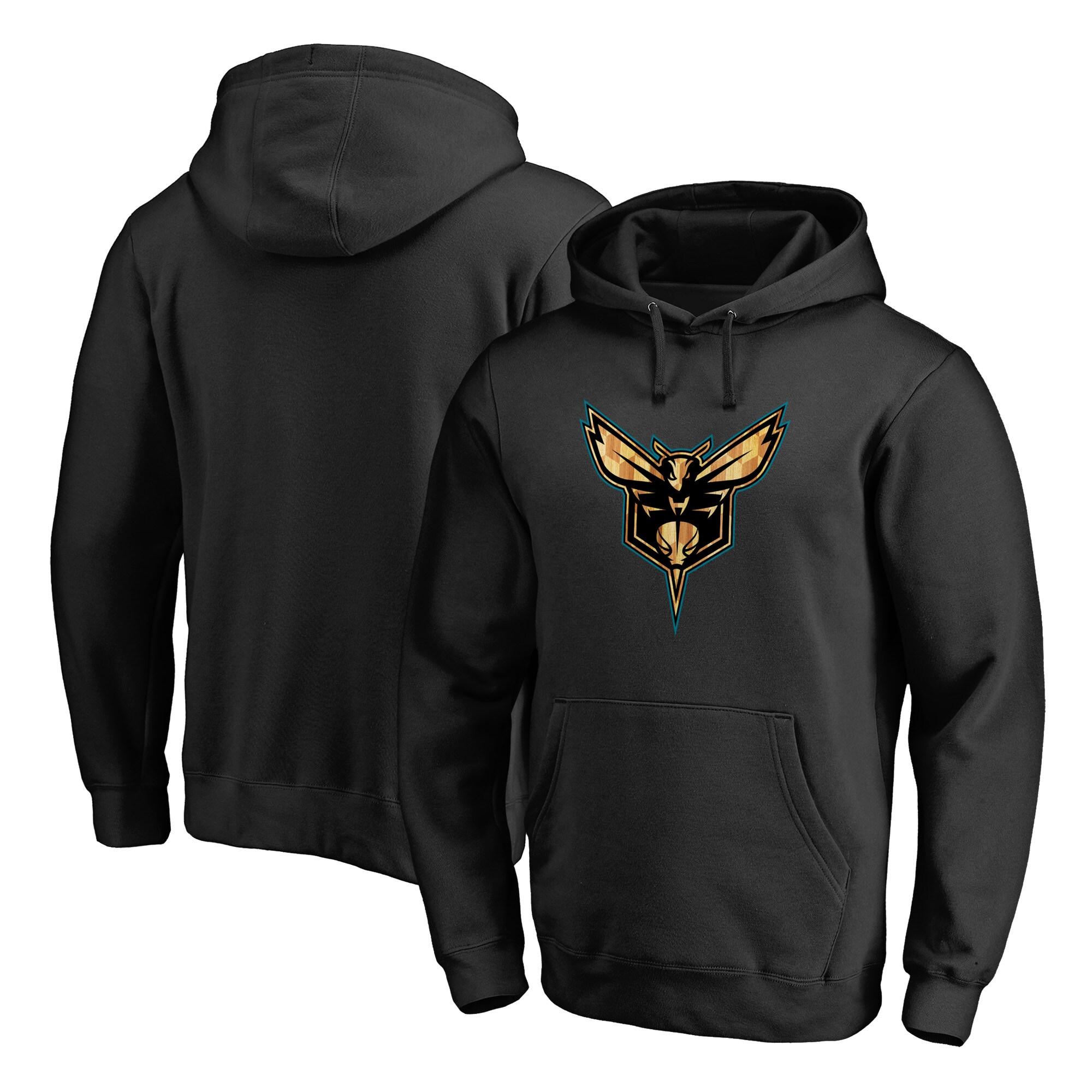 Charlotte Hornets Fanatics Branded Hardwood Pullover Hoodie - Black
