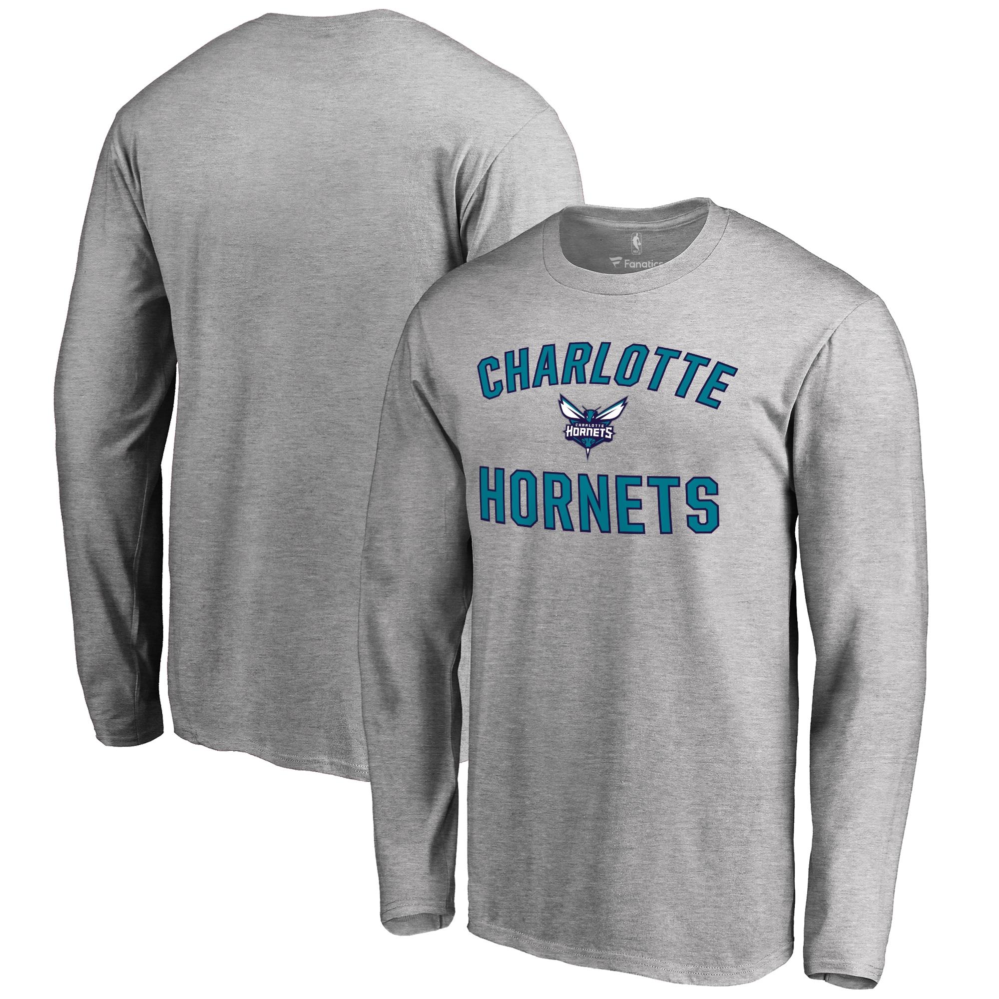 Charlotte Hornets Victory Arch Long Sleeve T-Shirt - Ash