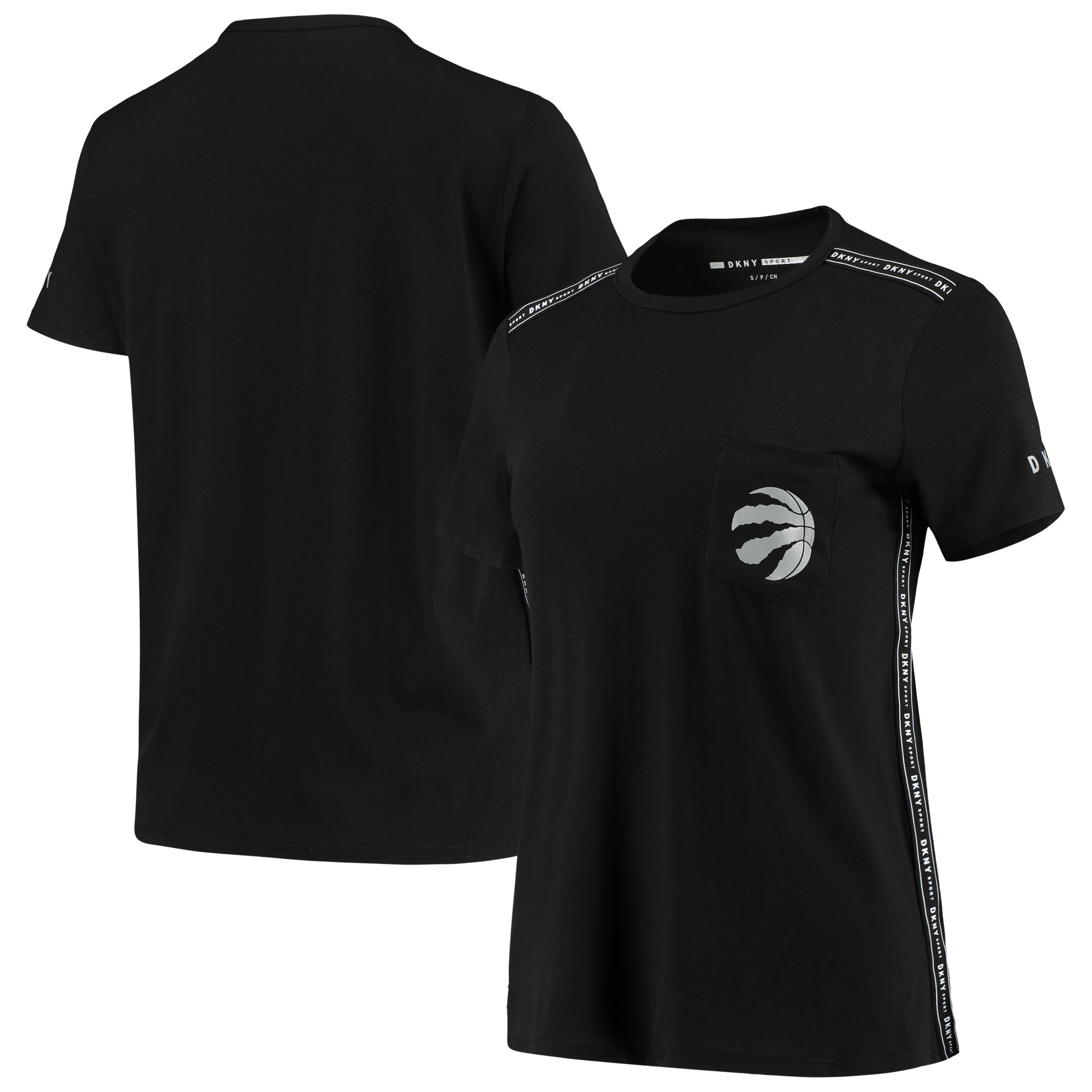 Toronto Raptors DKNY Sport Women's Donna Sport Pocket Tri-Blend T-Shirt - Black