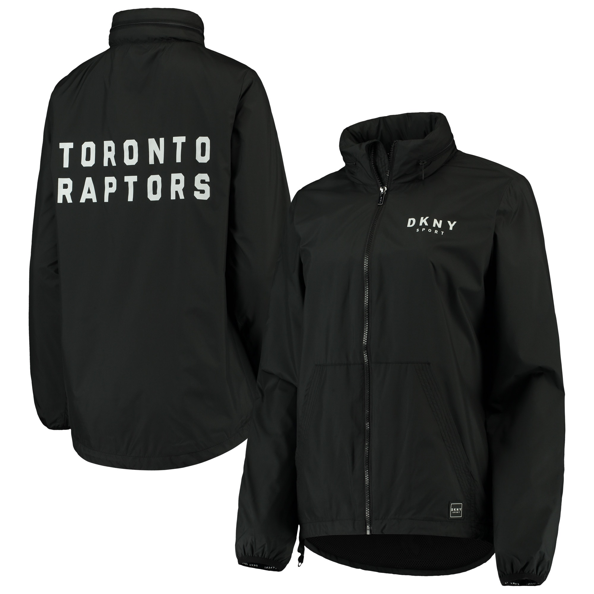 Toronto Raptors DKNY Sport Women's Stadium Full-Zip Jacket - Black