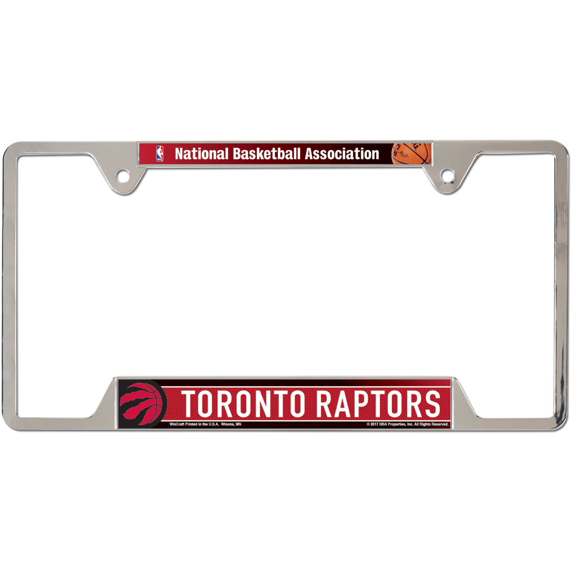 Toronto Raptors WinCraft Chrome Plated Metal License Plate Frame