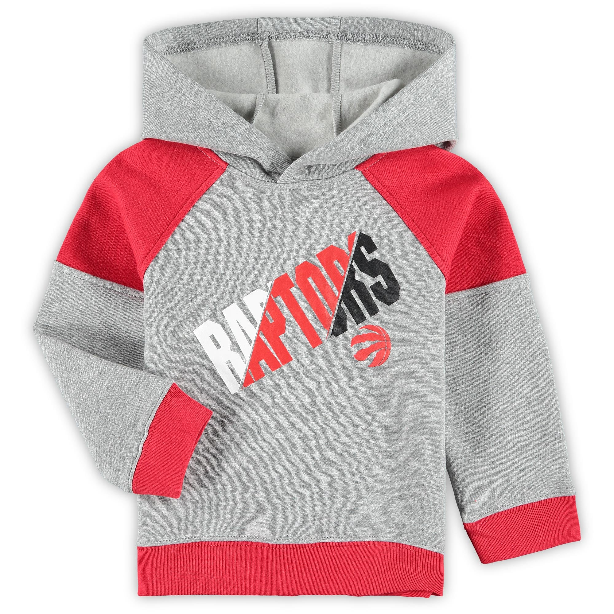 Toronto Raptors Toddler Sideline Fleece Pullover Hoodie - Heathered Gray