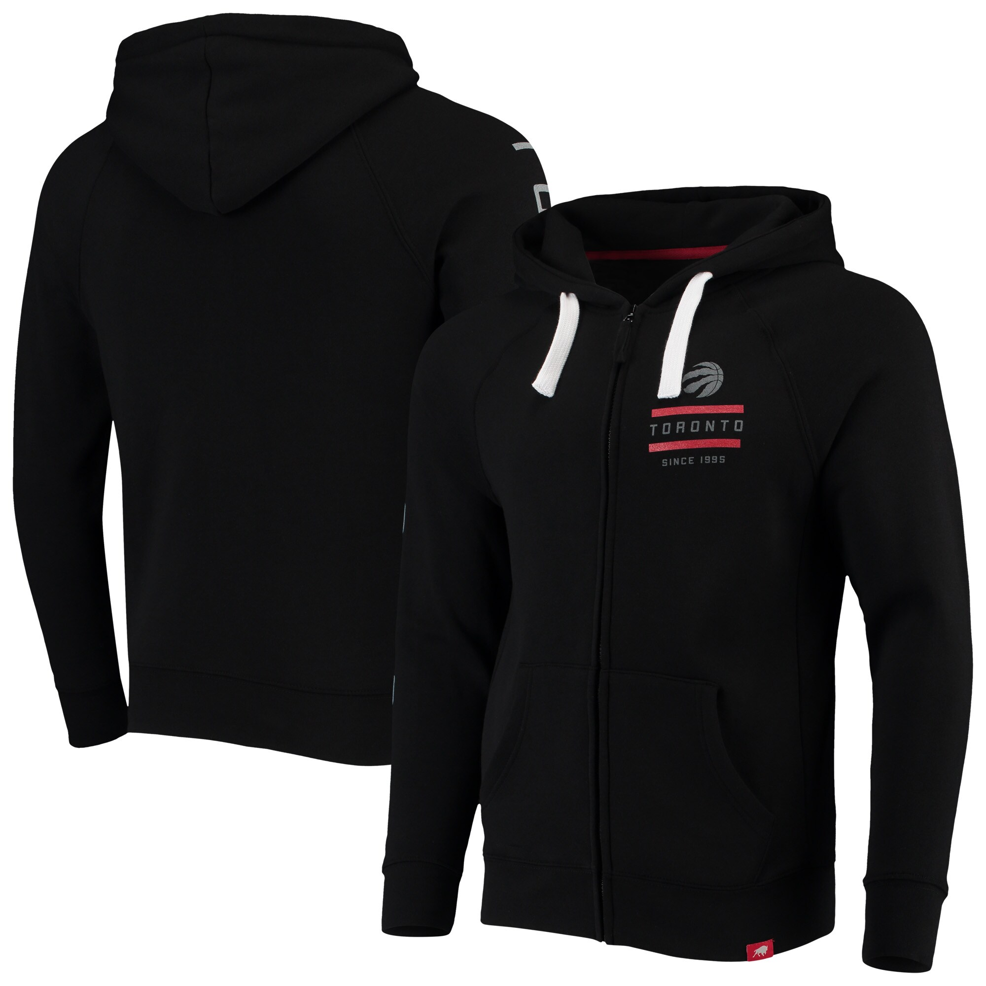 Toronto Raptors Sportiqe Heywood Comfort Tri-Blend Full-Zip Raglan Jacket - Black