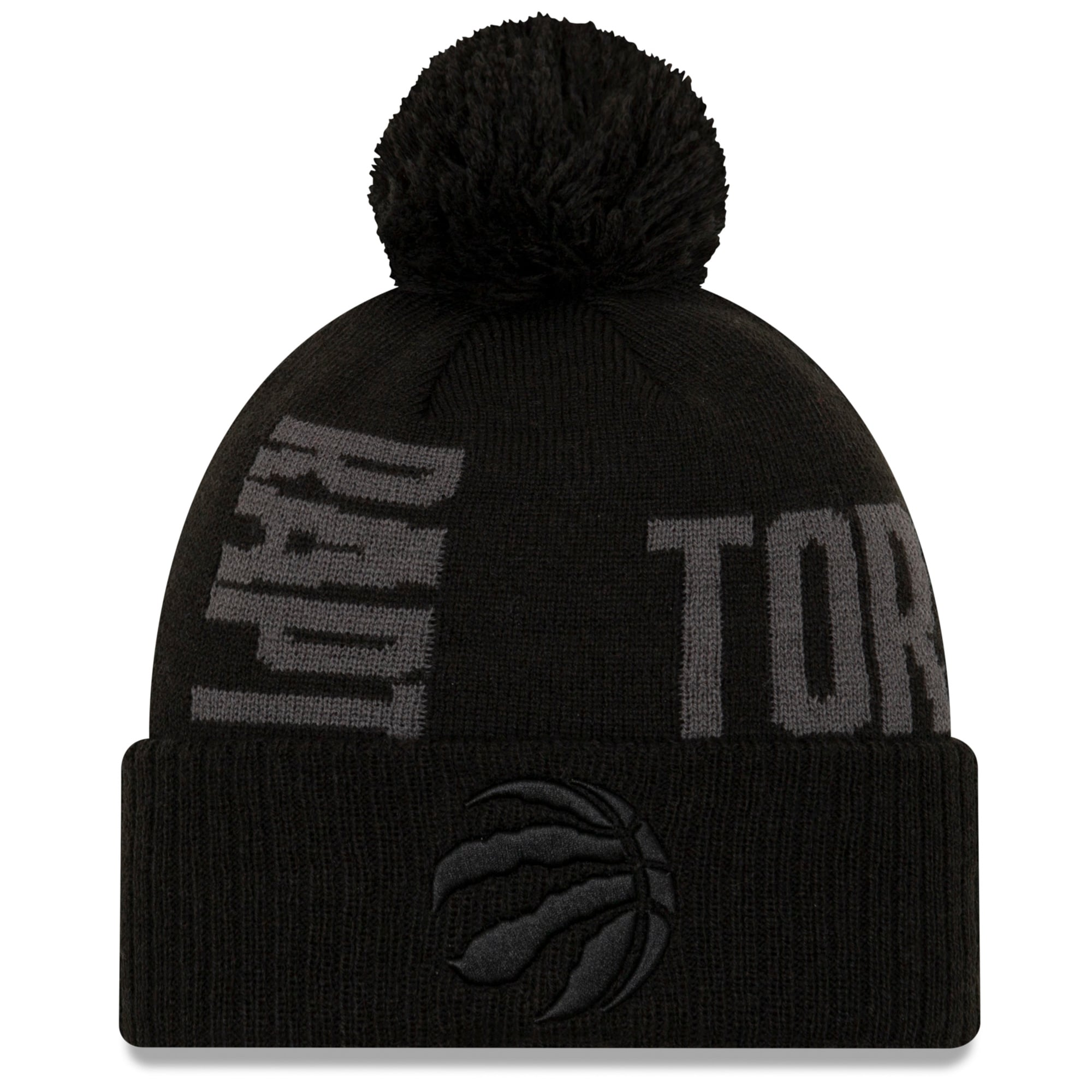 Toronto Raptors New Era 2019 NBA Tip-Off Series Tonal Cuffed Knit Hat - Black