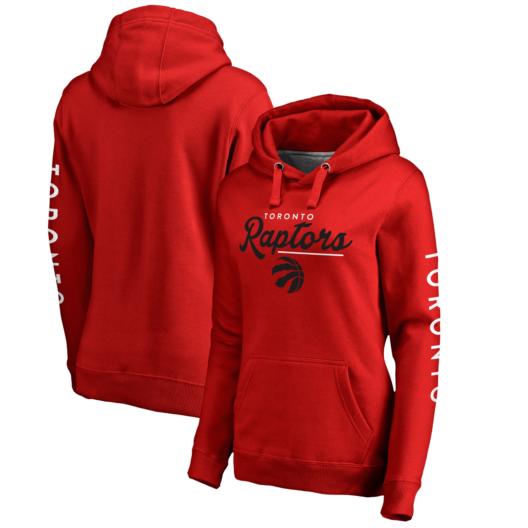 Toronto Raptors Fanatics Branded Women's High Class Pullover Hoodie - Red