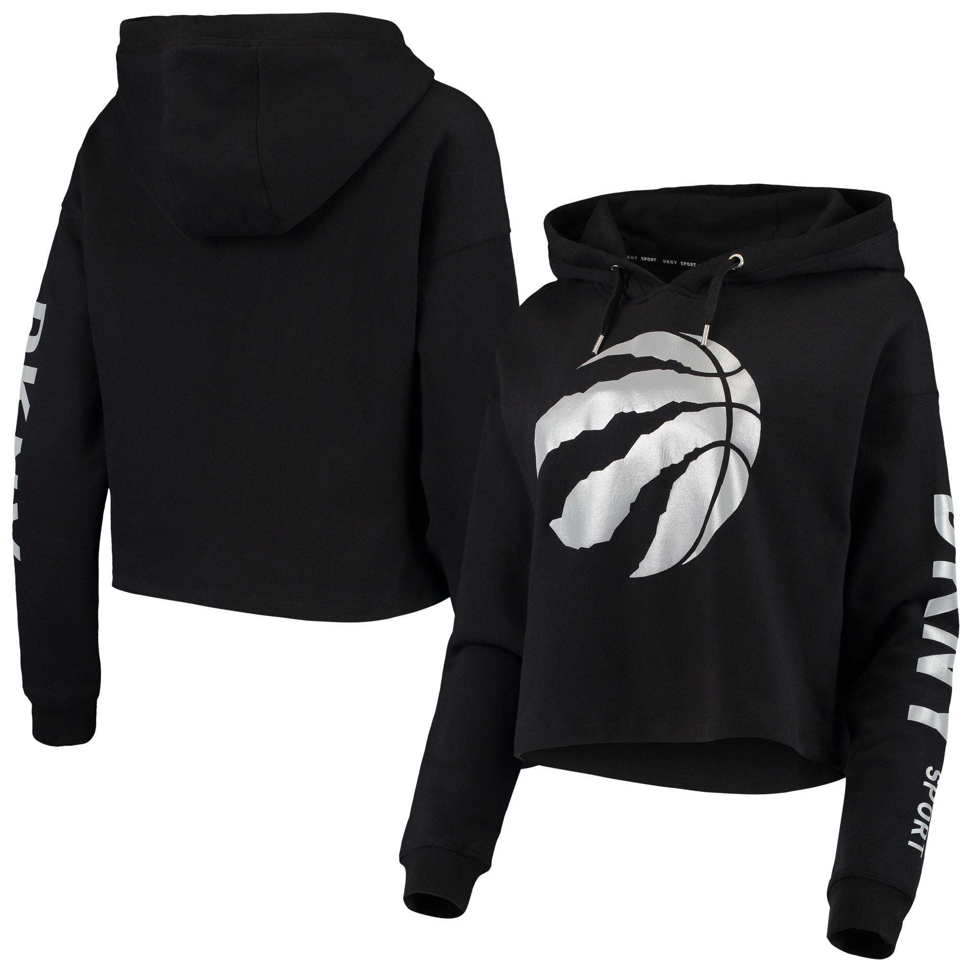 Toronto Raptors DKNY Sport Women's Lydia Pullover Hoodie - Black