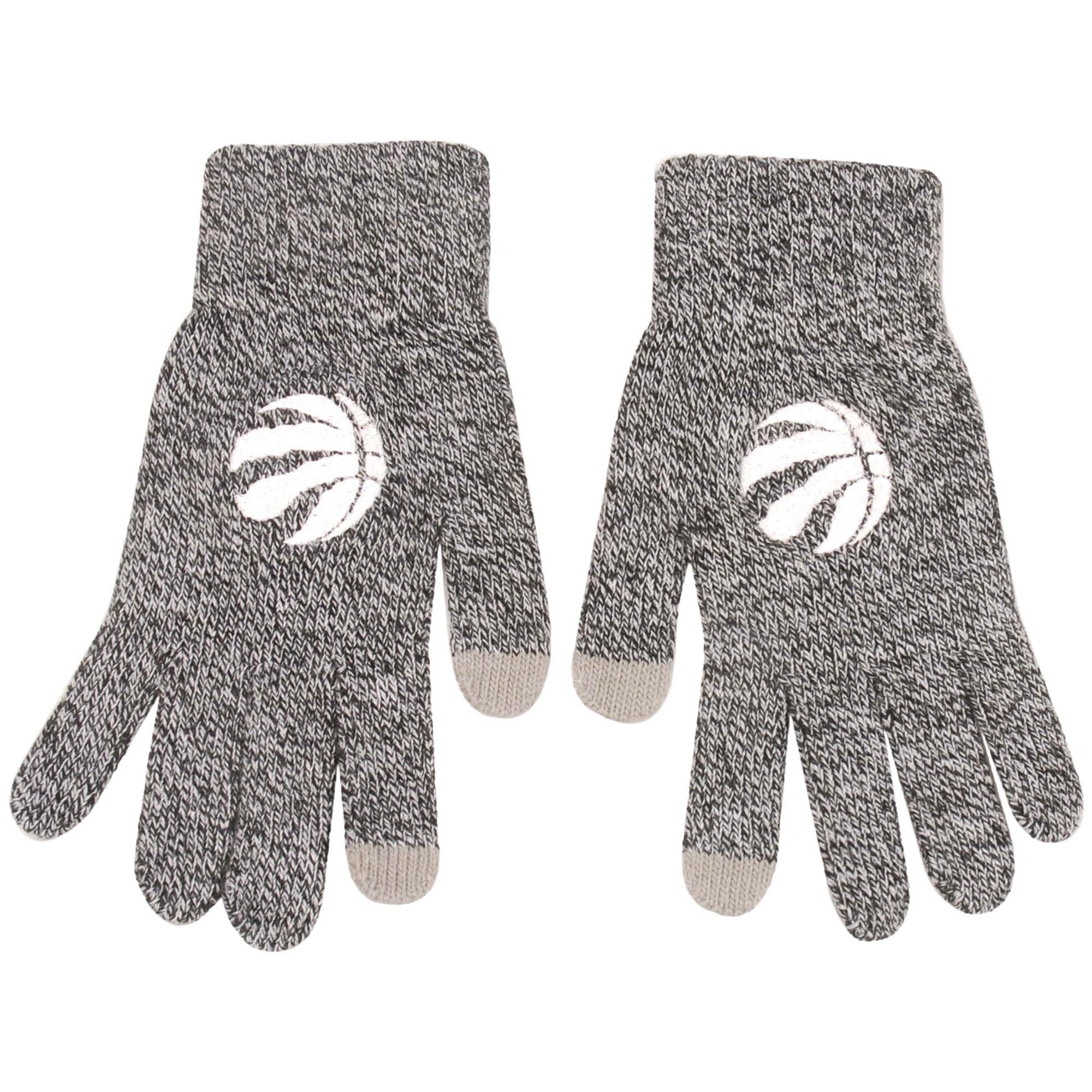Toronto Raptors Knit Gloves - Gray