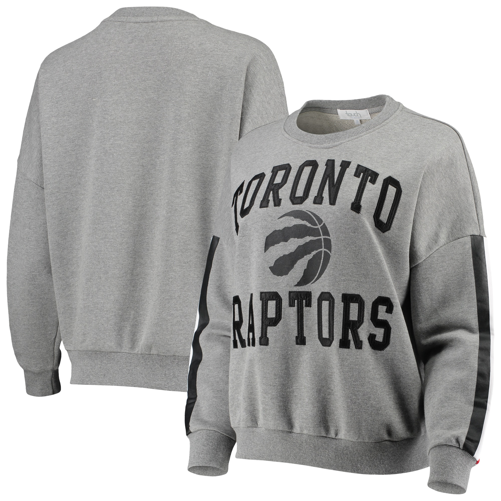Toronto Raptors G-III 4Her by Carl Banks Women's Slouchy Rookie French Terry Pullover Sweatshirt - Gray