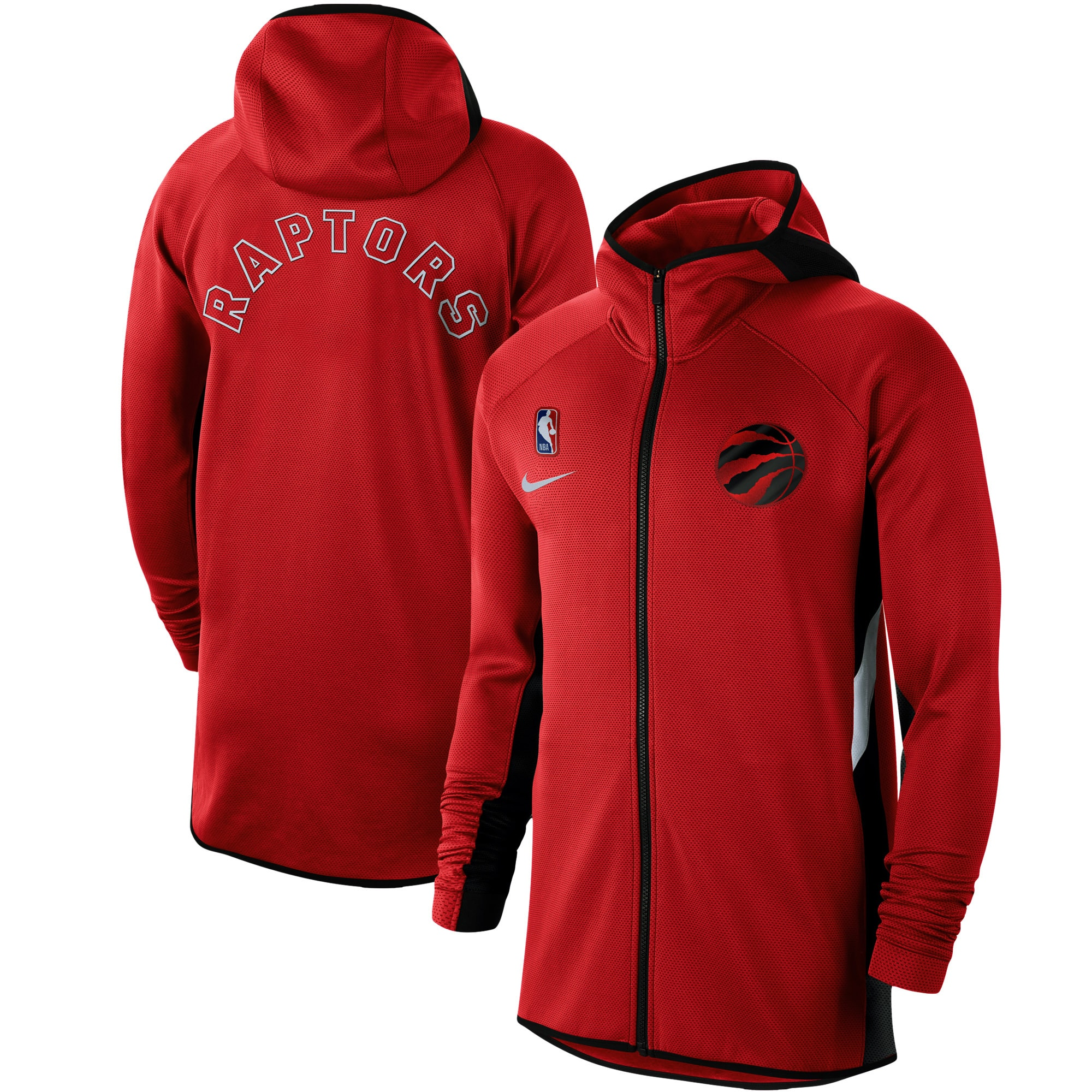 Toronto Raptors Nike Authentic Showtime Therma Flex Performance Full-Zip Hoodie - Red