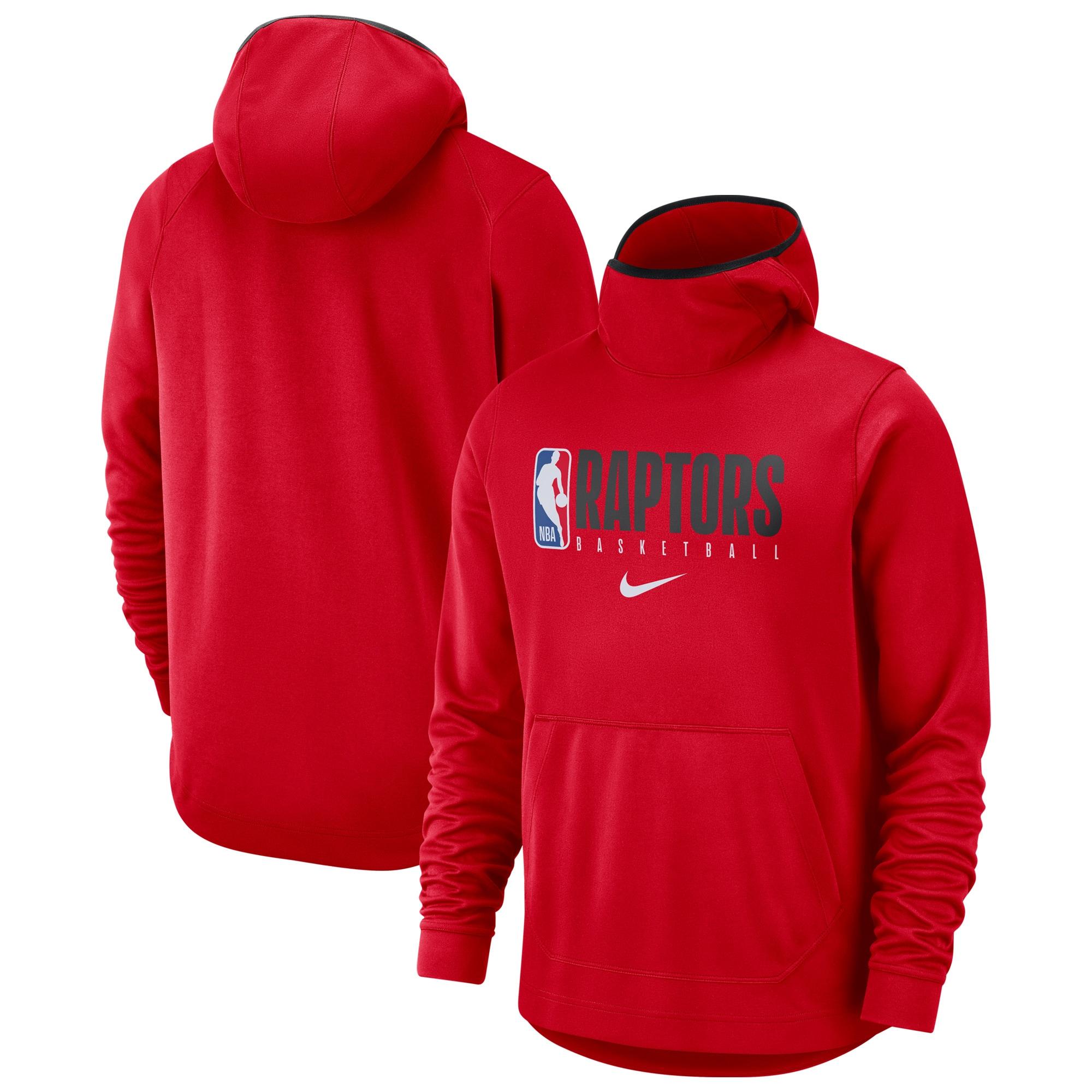 Toronto Raptors Nike Spotlight Practice Performance Pullover Hoodie - Red