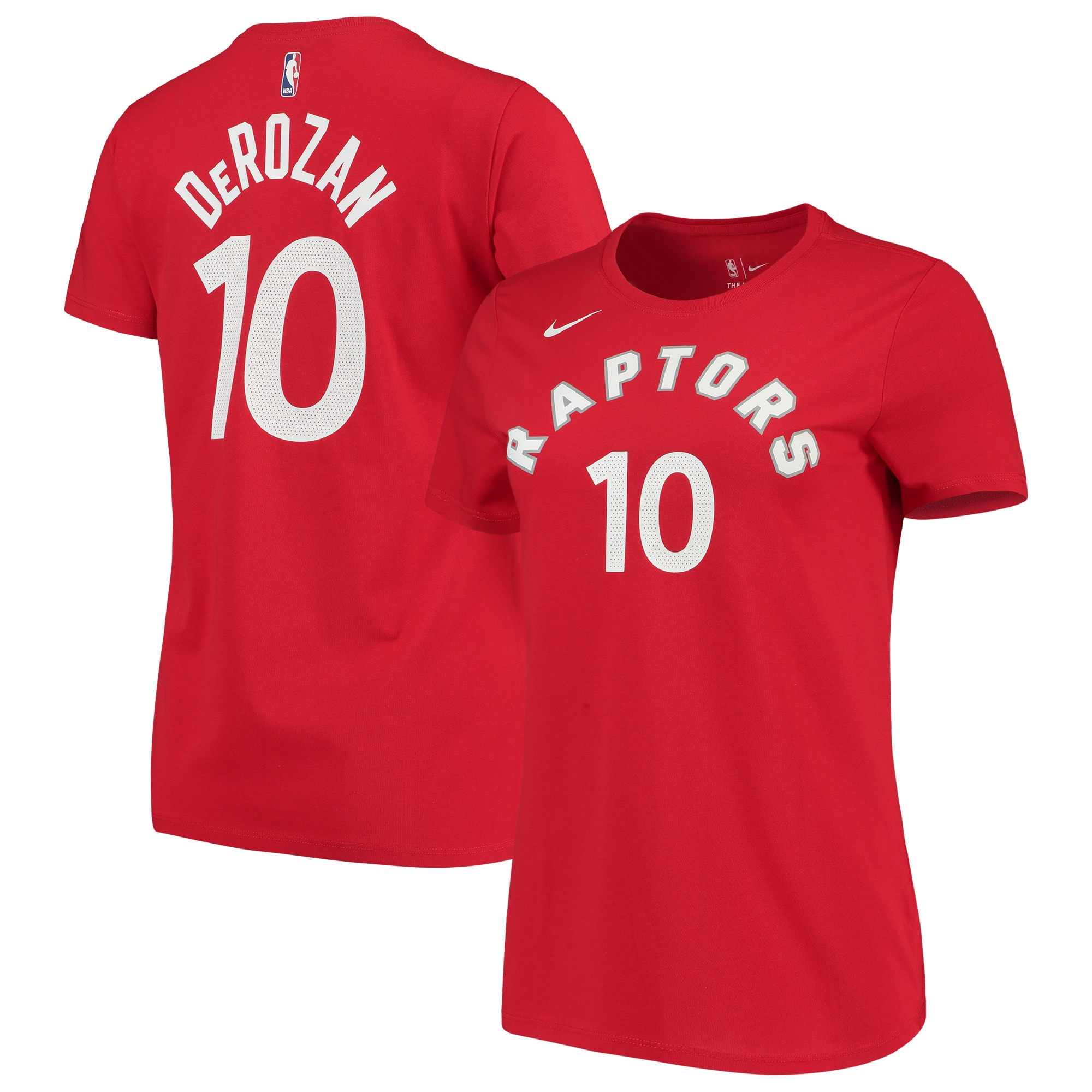 DeMar DeRozan Toronto Raptors Nike Women's Name & Number Performance T-Shirt - Red