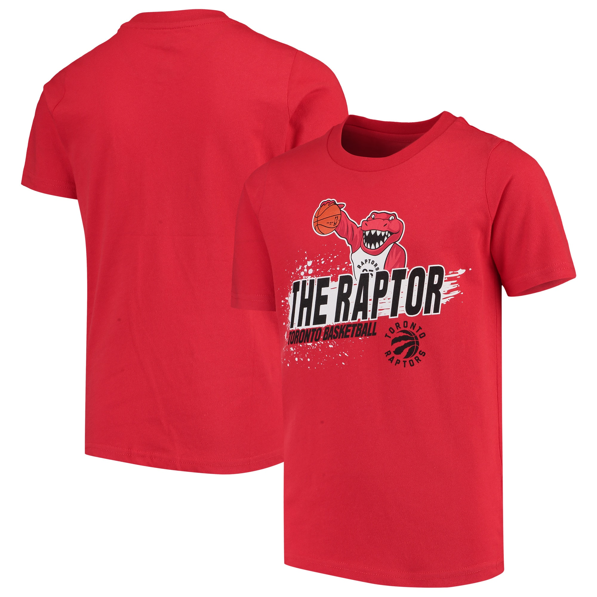 Toronto Raptors Youth Mascot Ice Break T-Shirt - Red